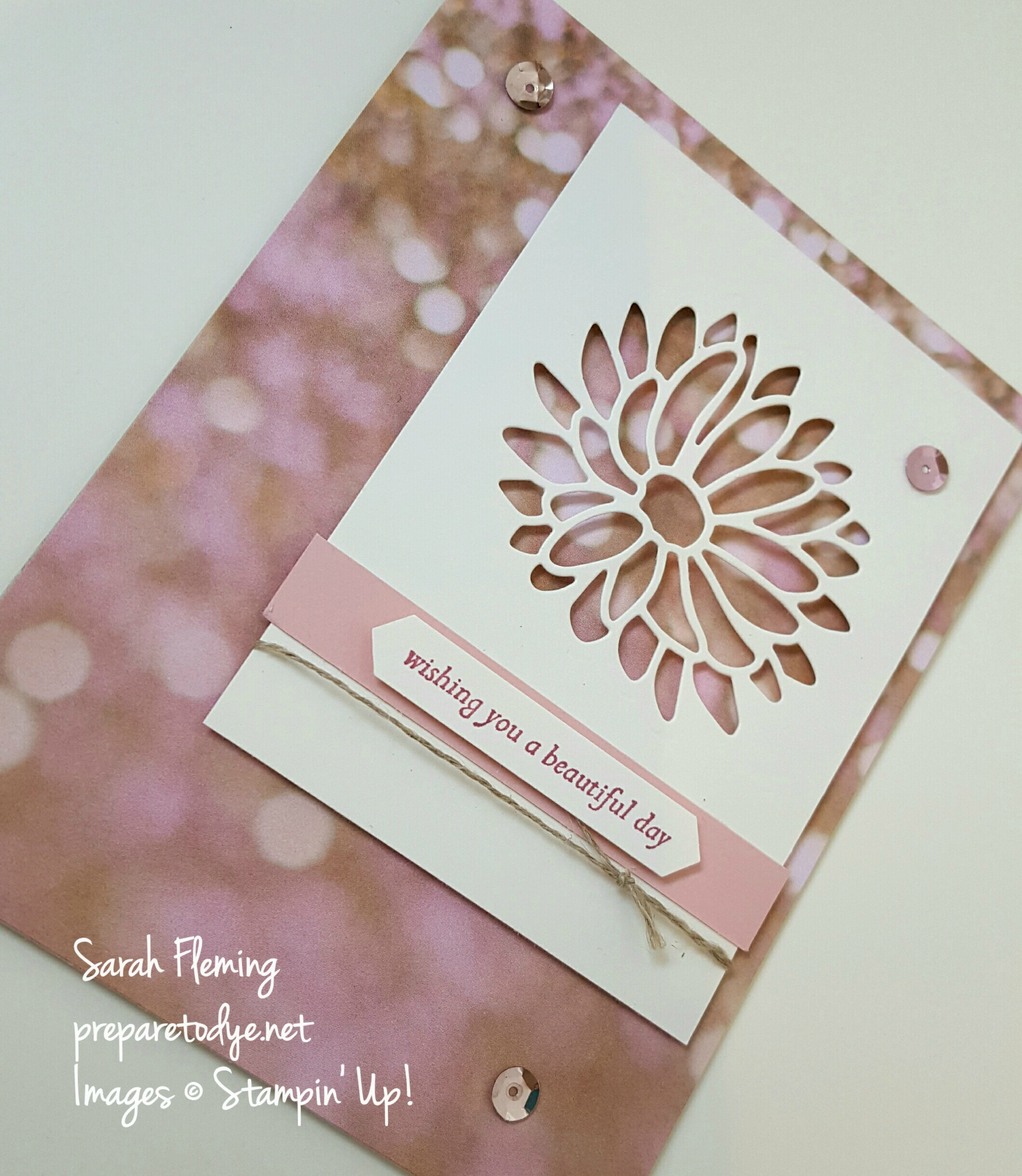 Stampin' Up! Falling in Love designer series paper and Special Reason bundle - new in the Occasions 2017 catalog, available Jan 4 - Sarah Fleming - Prepare to Dye Papercrafts