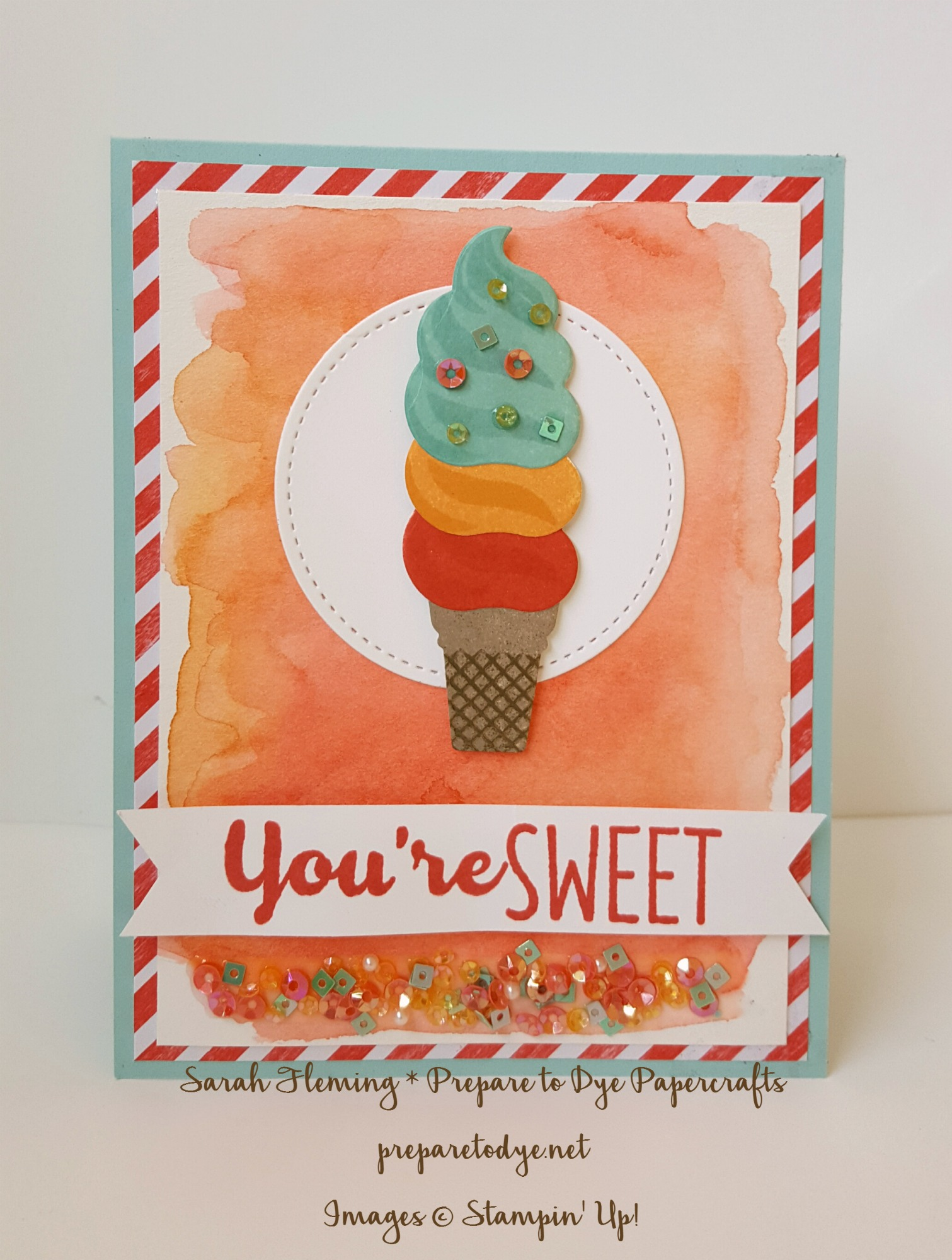 Stampin' Up! Cool Treats suite - available January 2017 - Sarah Fleming - Prepare to Dye Papercrafts - shop with me if you're in the USA!