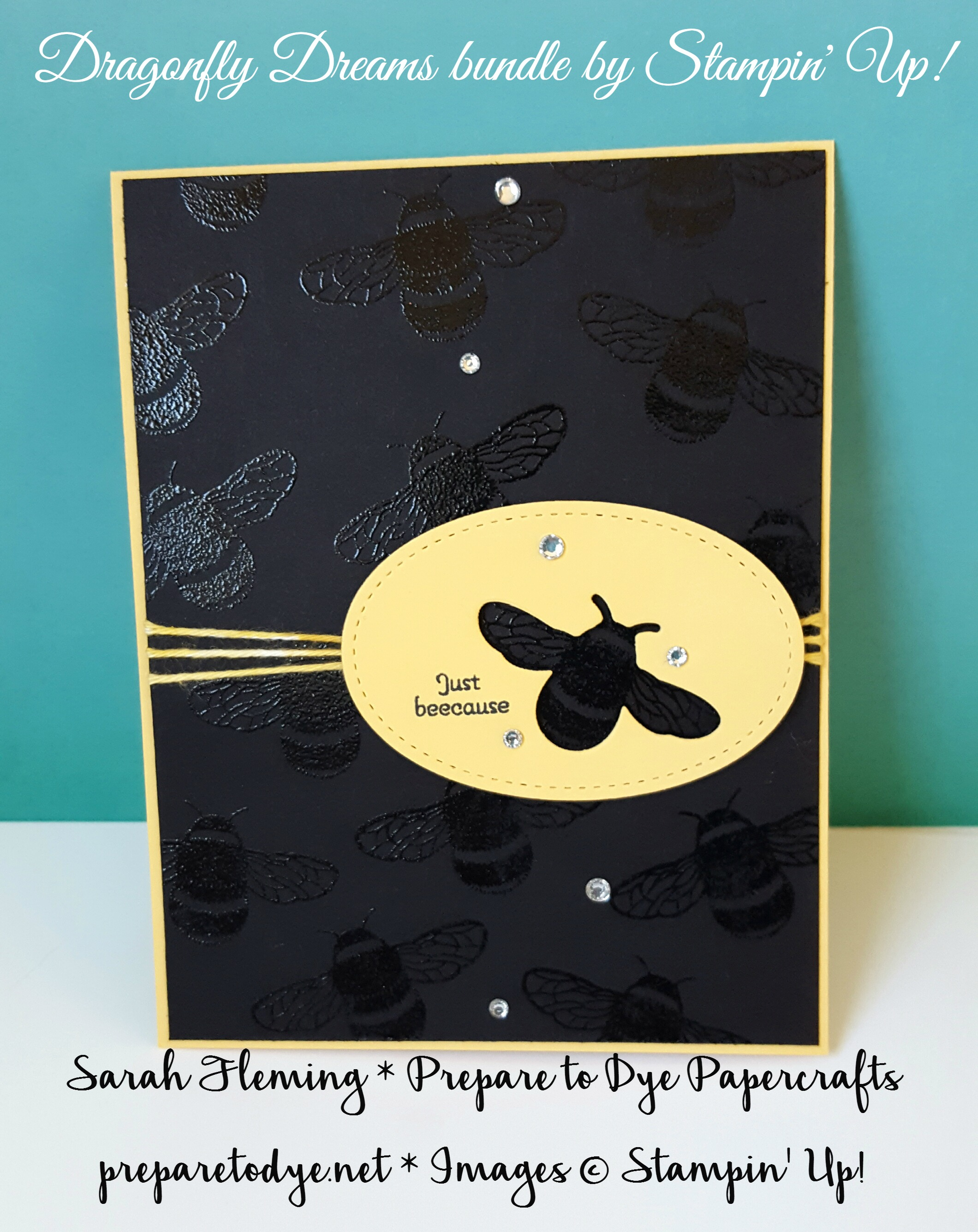 Stampin' Up! Dragonfly Dreams bundle and Pun Intended stamp set - Sarah Fleming - Prepare to Papercrafts - #tgifc92