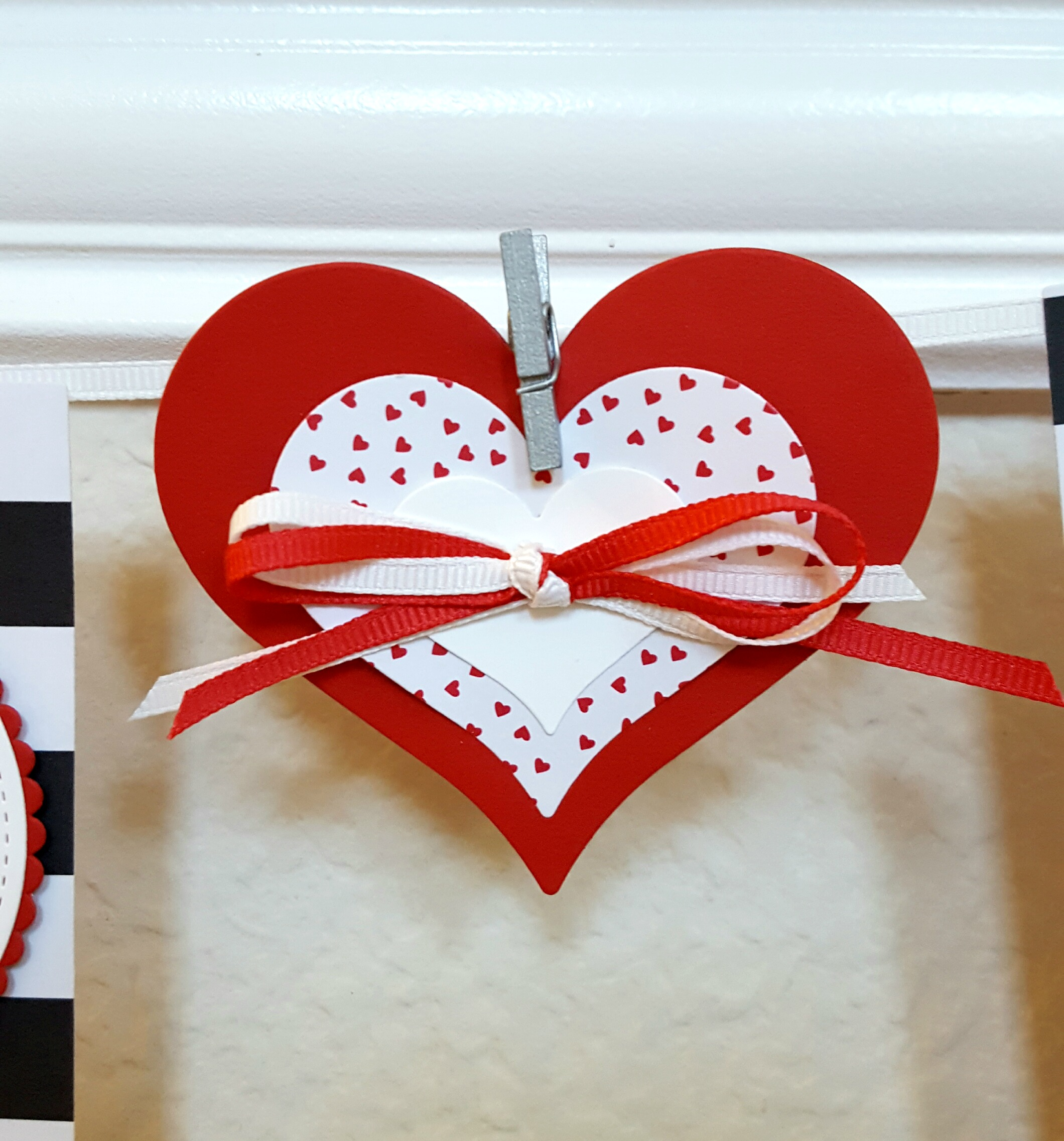 Stampin' Up! handmade Valentine's Day banner with Yummy in My Tummy stamps and Banner, Large Numbers, Layering Circles, Stitched Shapes framelits - #GDP071 - Sarah Fleming - Prepare to Dye Papercrafts