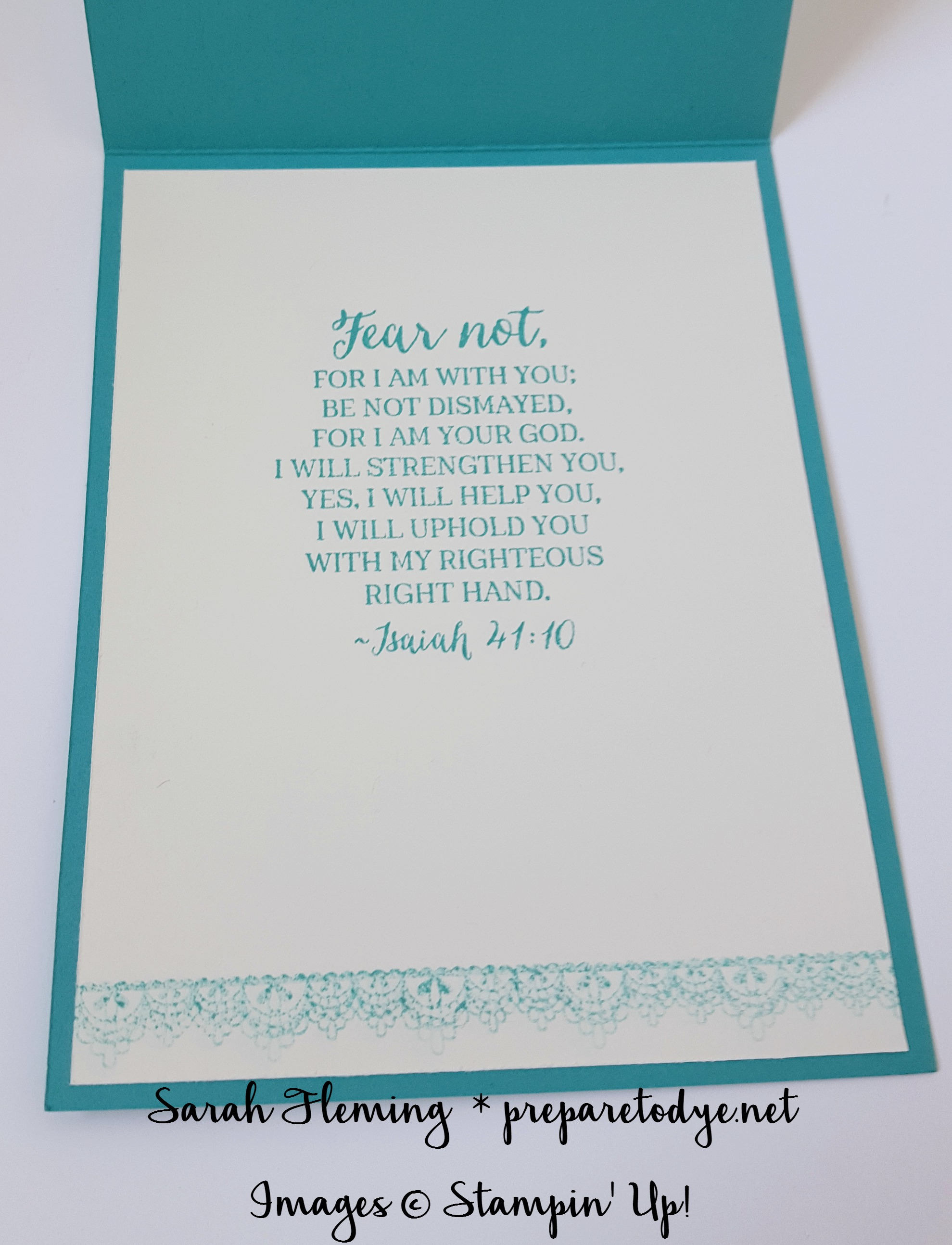 Stampin' Up!'s Rose Wonder stamp set has lovely sentiments for the inside of a handmade sympathy card - Sarah Fleming - Prepare to Dye Papercrafts