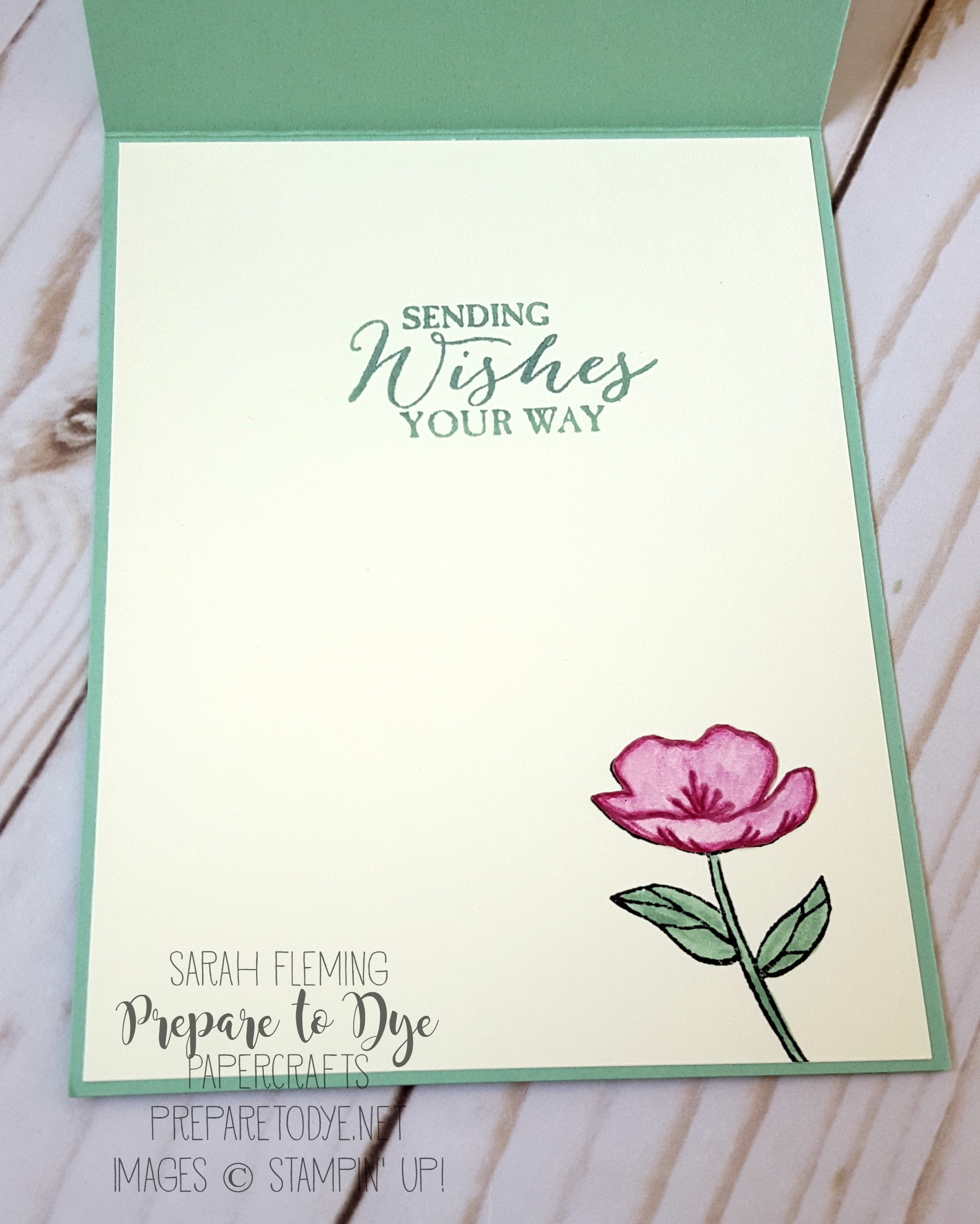 Stampin' Up! Butterfly Basics and Birthday Blooms handmade card with watercolor pencils and paper piecing - Sarah Fleming - Prepare to Dye Papercrafts - Kylie Bertucci's International Blog Highlights