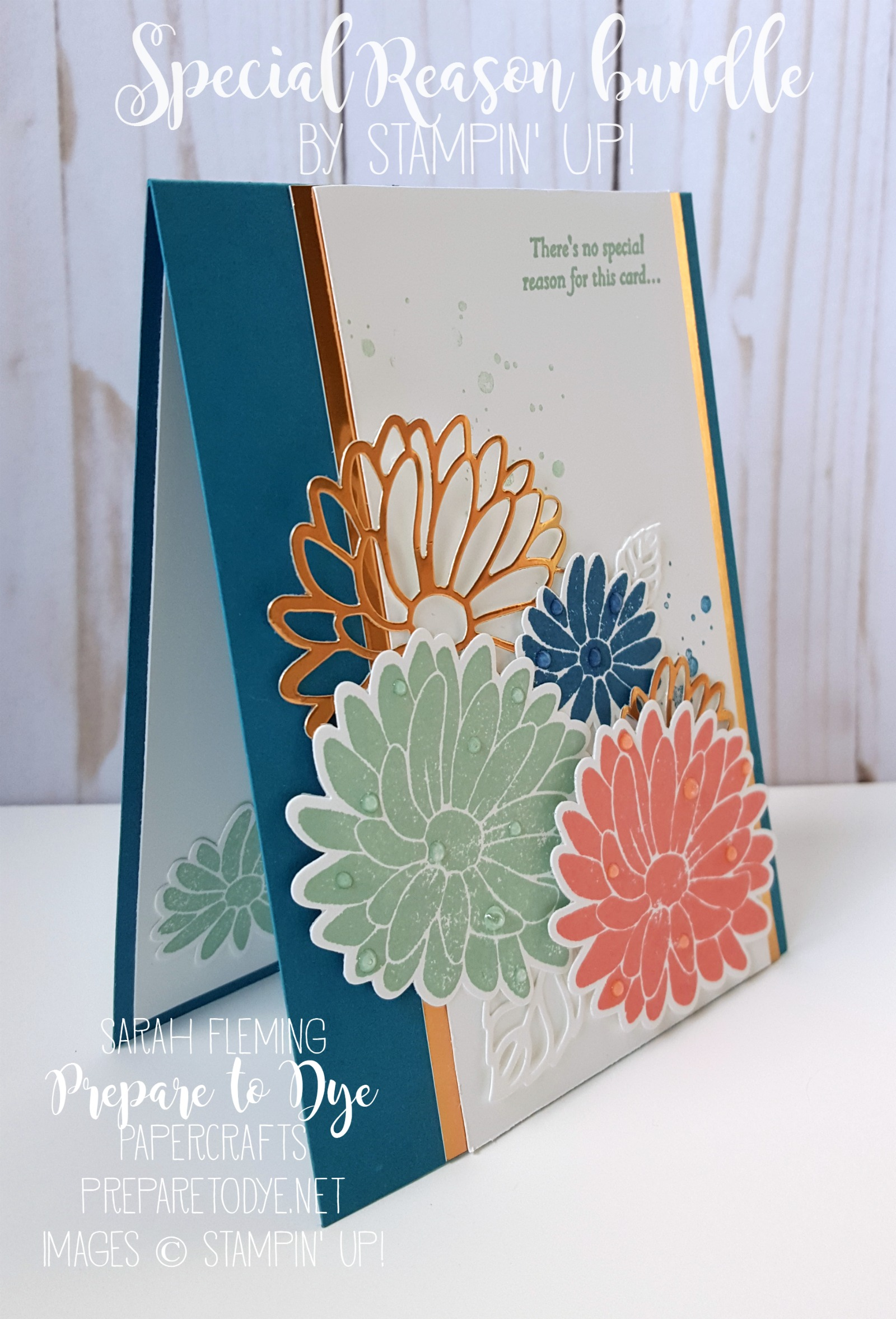 Stampin' Up! Special Reason bundle w/ Stylish Stems framelits - handmade card with flowers - #GDP076 - Sarah Fleming - Prepare to Dye Papercrafts