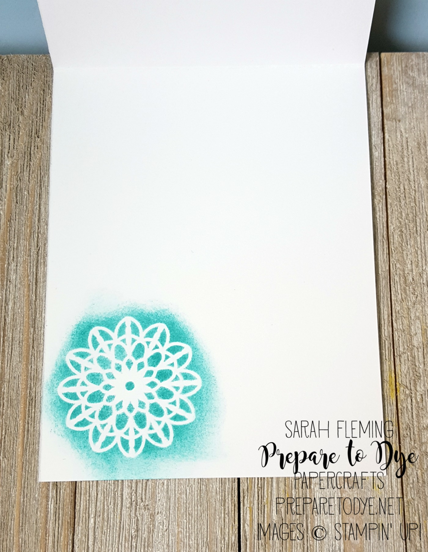 Stampin' Up! Lace Doilies - Kylie Bertucci's International Blog Highlight - Sarah Fleming - Prepare to Dye Papercrafts