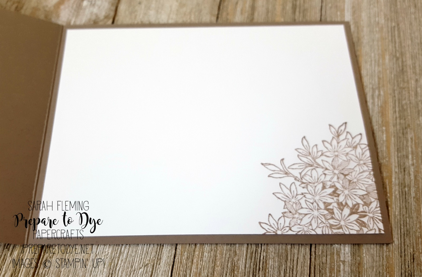 Stampin' Up! Awesomely Artistic - Sarah Fleming - Prepare to Dye Papercrafts