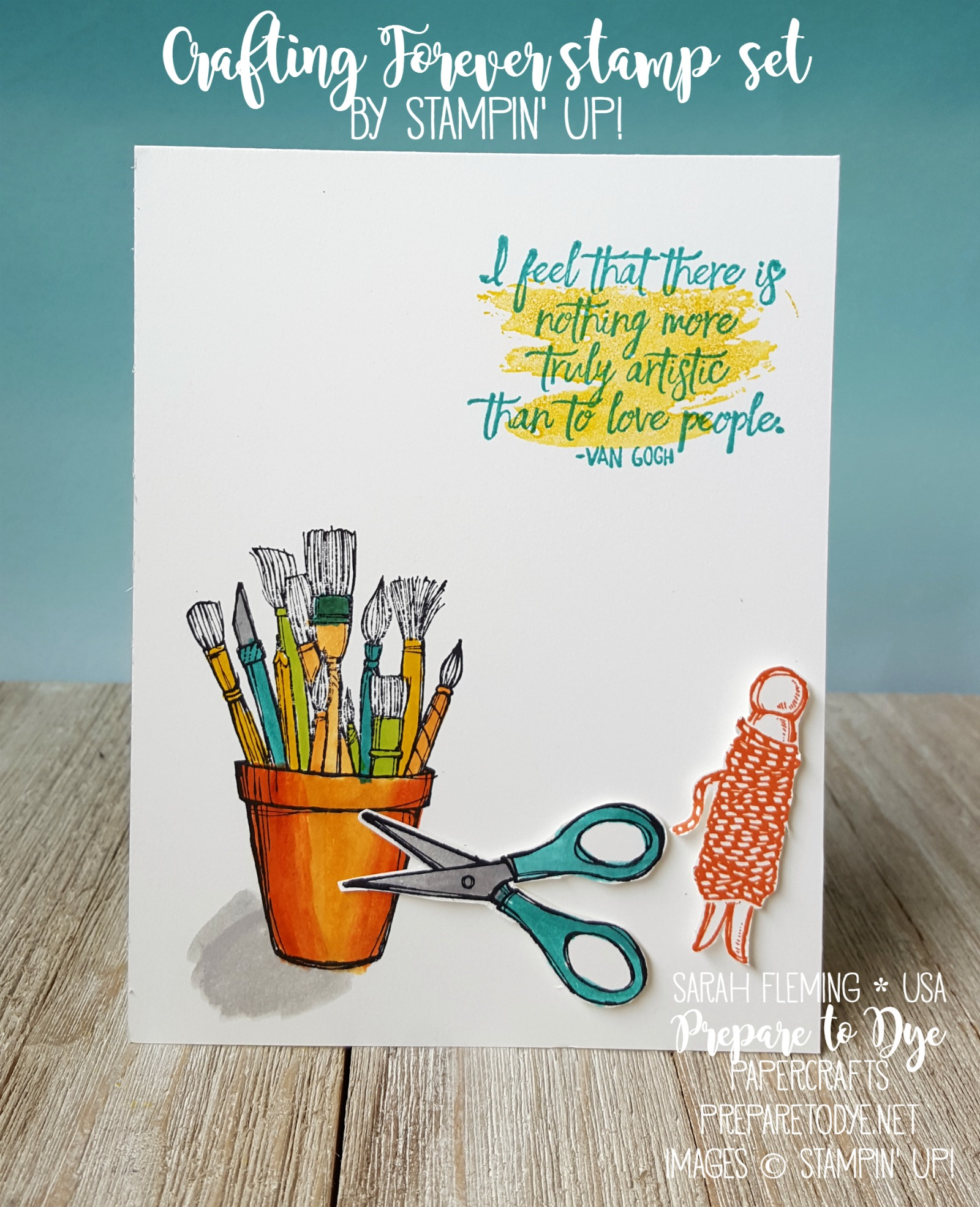 Stampin' Up! Crafting Forever and Just Add Text with Sunshine Sayings - new annual catalog sneak peek - Sarah Fleming - Prepare to Dye Papercrafts