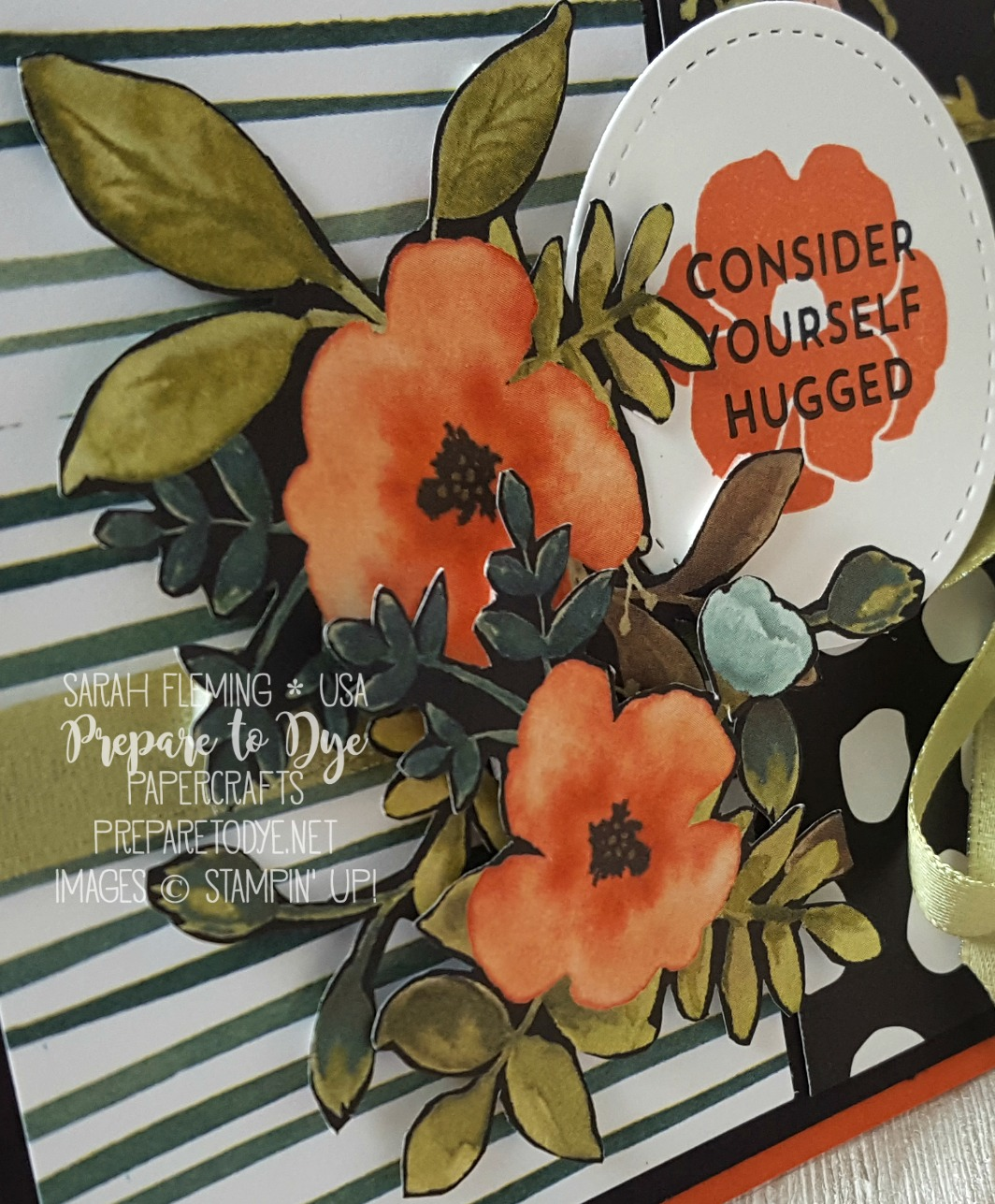 Stampin' Up! Whole Lot of Lovely suite - Lots of Love stamps, Stitched Shapes framelits - Creative Crew sketch challenge at Splitcoaststampers - Sarah Fleming - Prepare to Dye Papercrafts