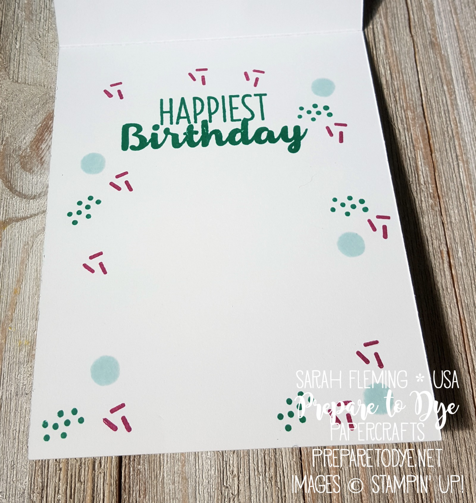 Stampin' Up! Cool Treats & Frozen Treats framelits with Sunshine Sayings & Sunshine Wishes thinlits, glossy cardstock, Ruffled Dynamic embossing folder - Sarah Fleming - Prepare to Dye Papercrafts