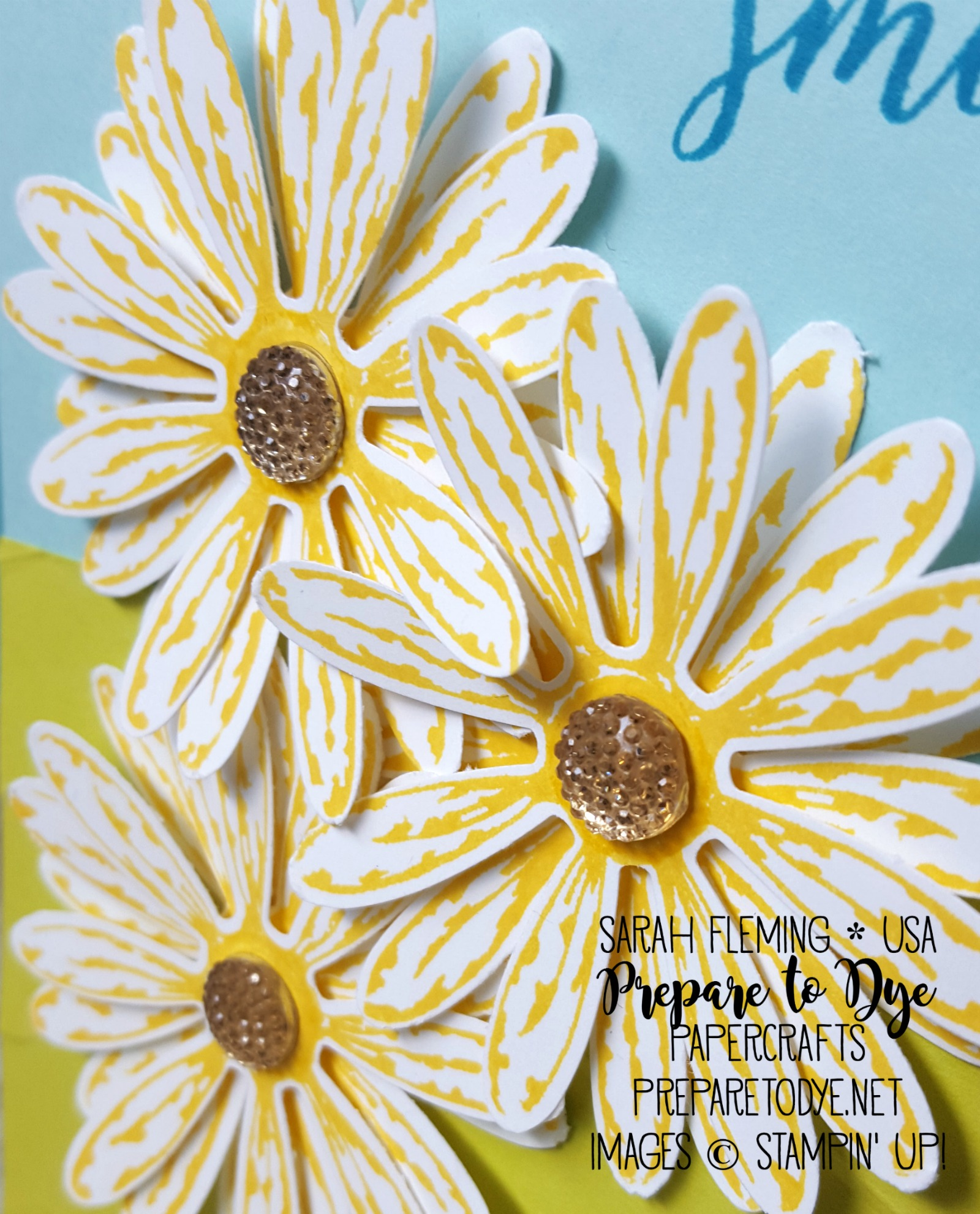 Stampin' Up! Daisy Delight bundle with Colorful Seasons and Ruffled dynamic embossing folder - Sarah Fleming - Prepare to Dye Papercrafts