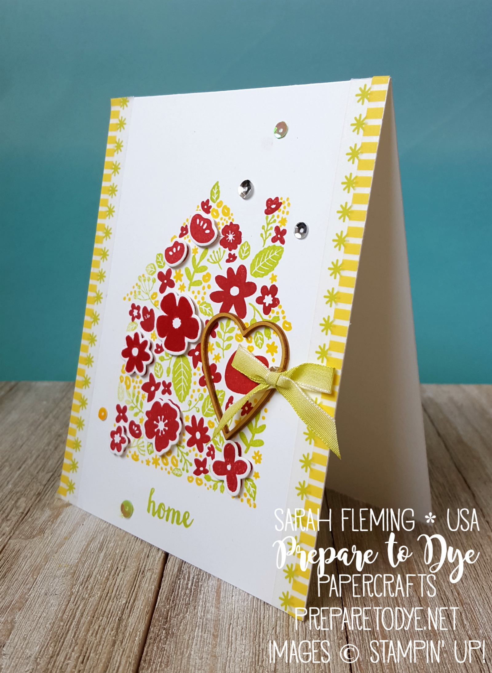 "Stampin' Up! Home Life bundle with Welcome Home framelits and Lemon-Lime Twist 1/4"" Ombre Ribbon & Basics Pack 2 washi tape"