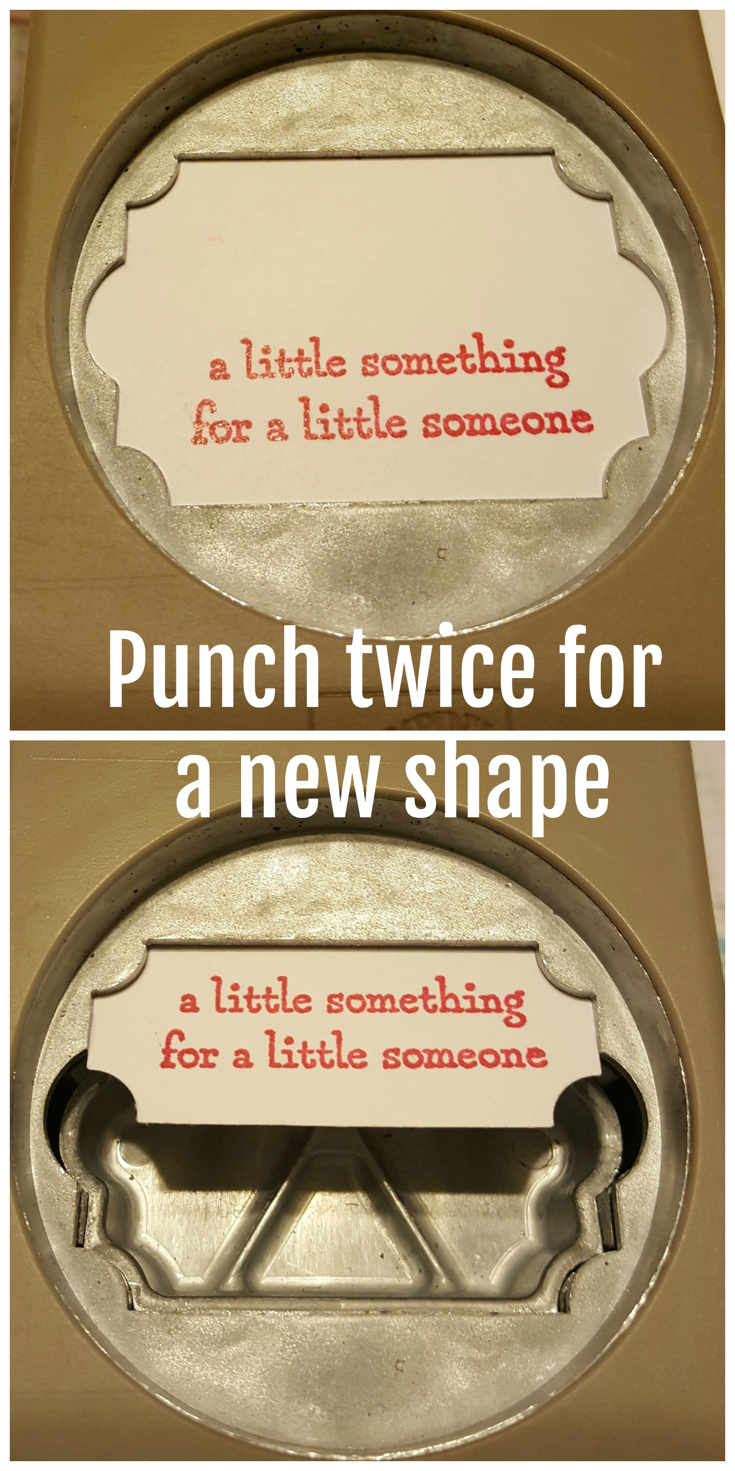 Stampin' Up! punch tip - Punch twice to punch a different, smaller shape - Everyday Label punch - Sarah Fleming - Prepare to Dye Papercrafts
