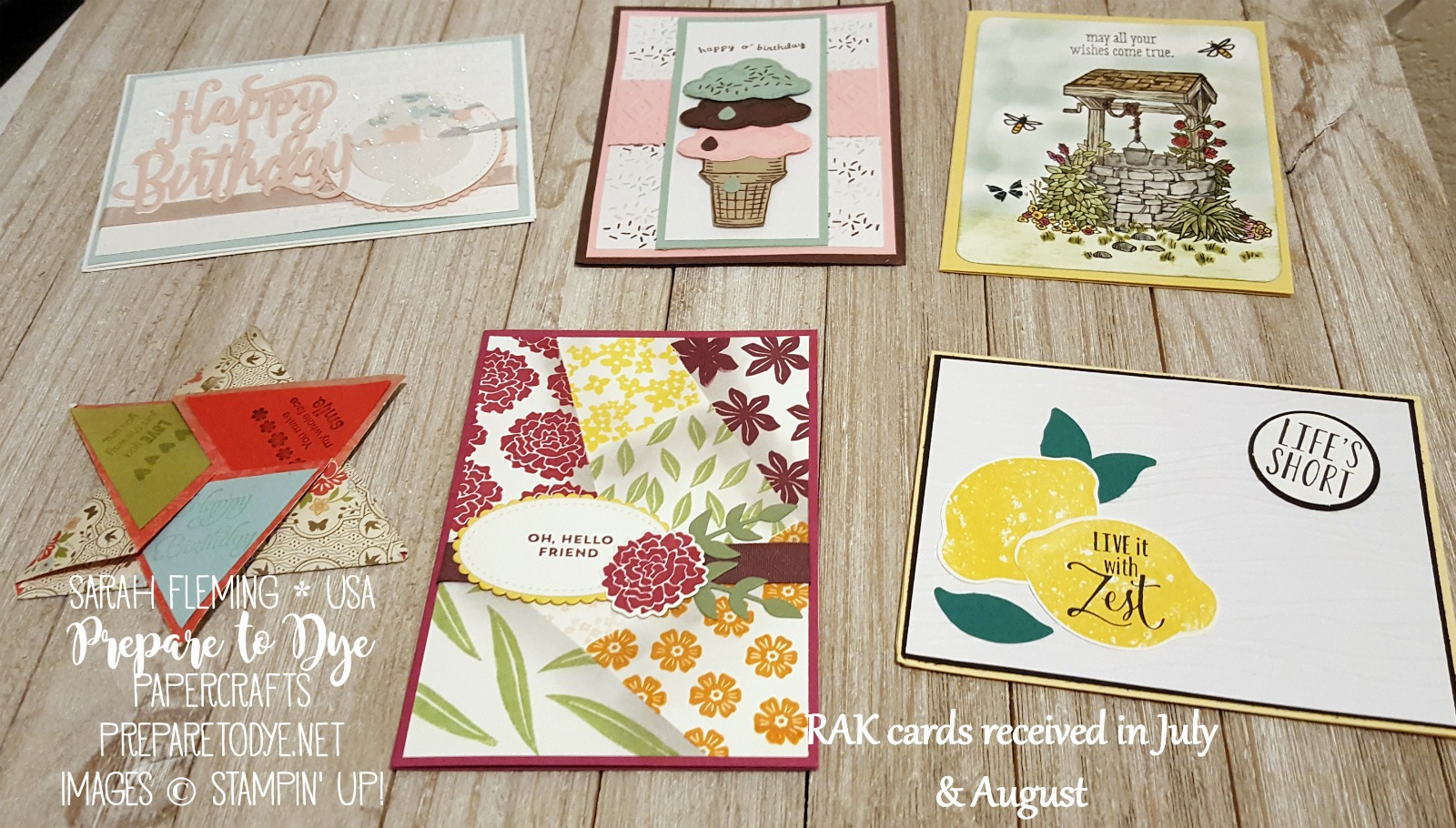 Stampin' Up! Random Act of Kindness cards & birthday cards