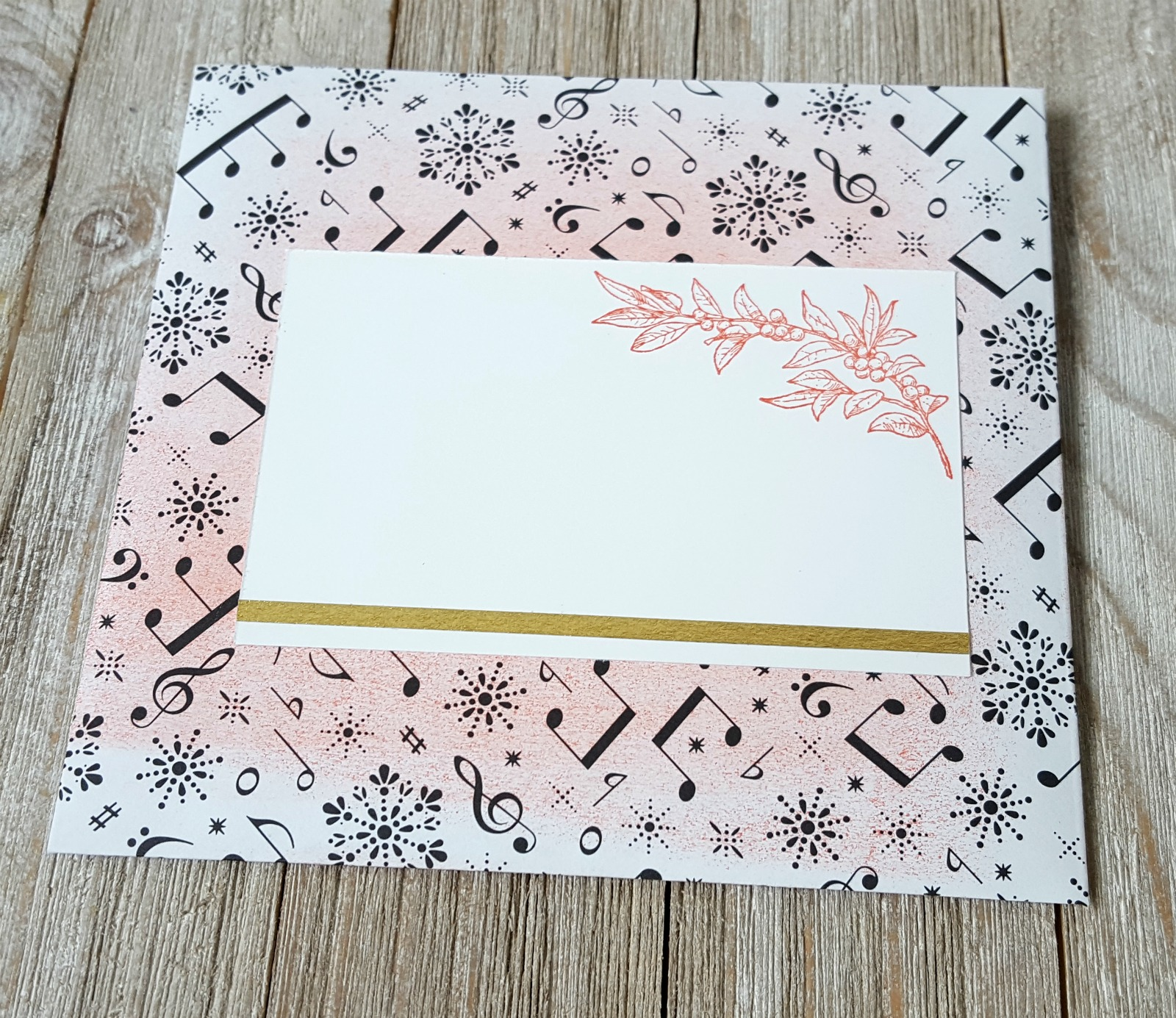 Stampin' Up! Merry Music specialty paper with Envelope Punch Board & Musical Season stamps, sponge brayer, Year of Cheer specialty washi tape - Crazy Crafters Blog Hop - Sarah Fleming - Prepare to Dye Papercrafts