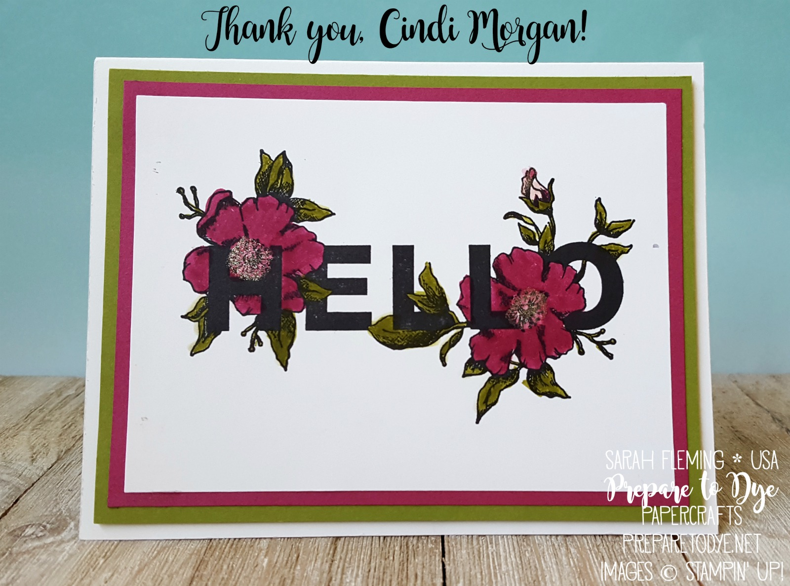 Random Act of Kindness blog hop - Floral Statements