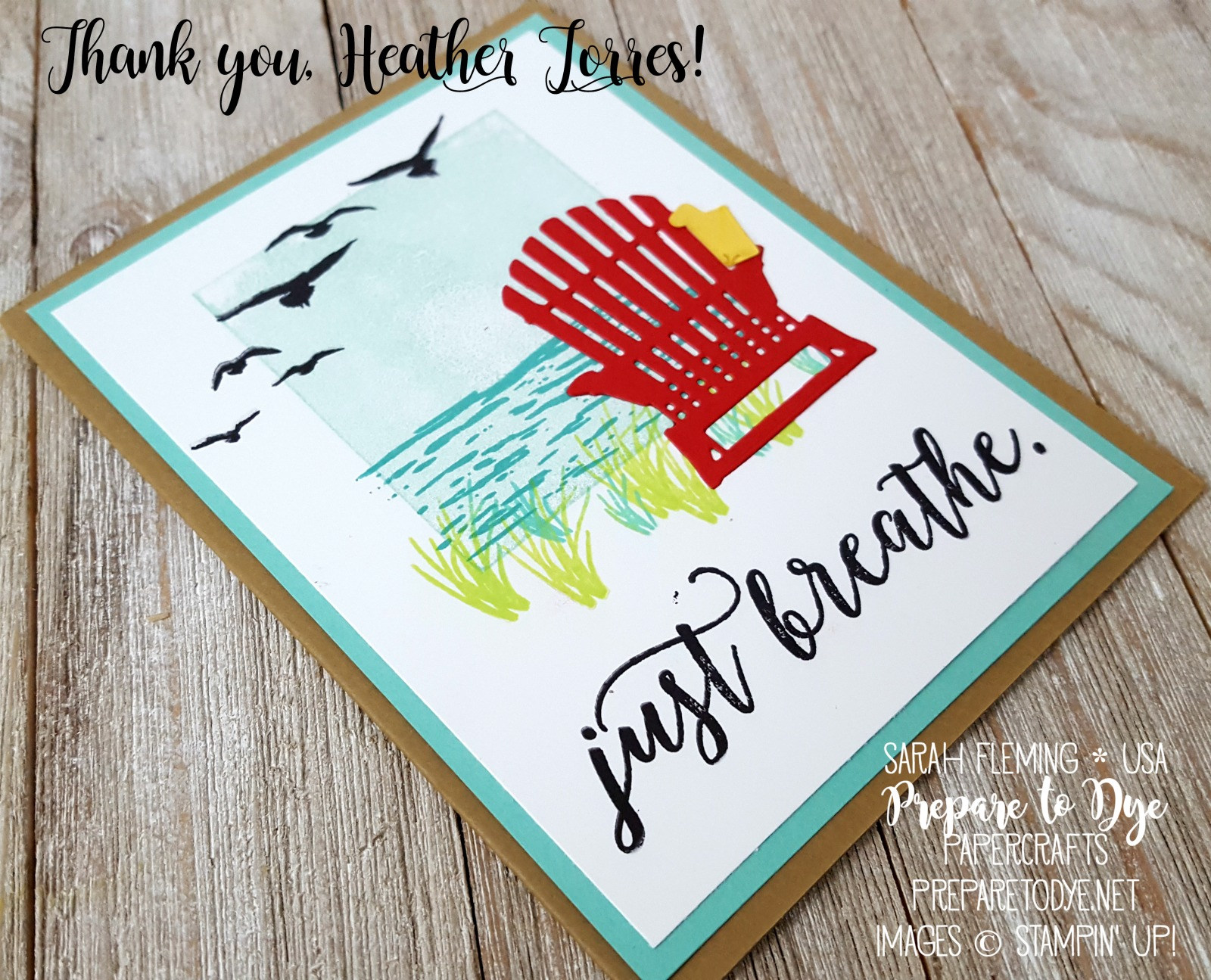 Random Act of Kindness card group blog hop - Colorful Seasons bundle and High Tide stamps