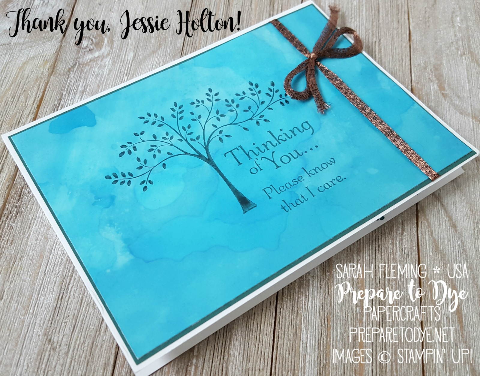 Random Act of Kindness card group blog hop - Thoughts & Prayers