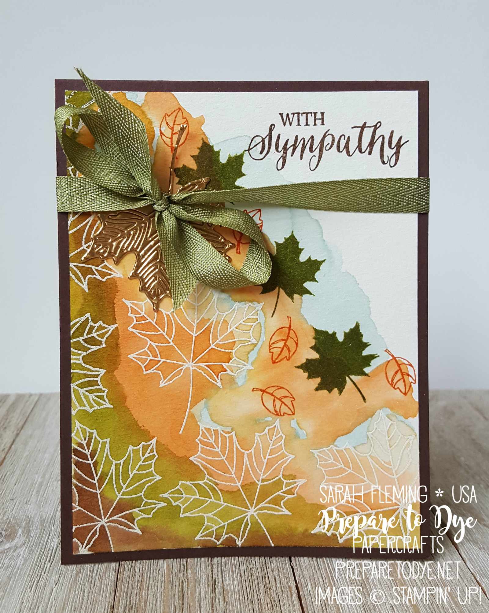 Stampin' Up! Colorful Seasons bundle with Merry Cafe & Rose Wonder stamps, Seasonal Layers thinlits, watercolor emboss resist - how to use heat embossing on a card - Sarah Fleming - Prepare to Dye Papercrafts