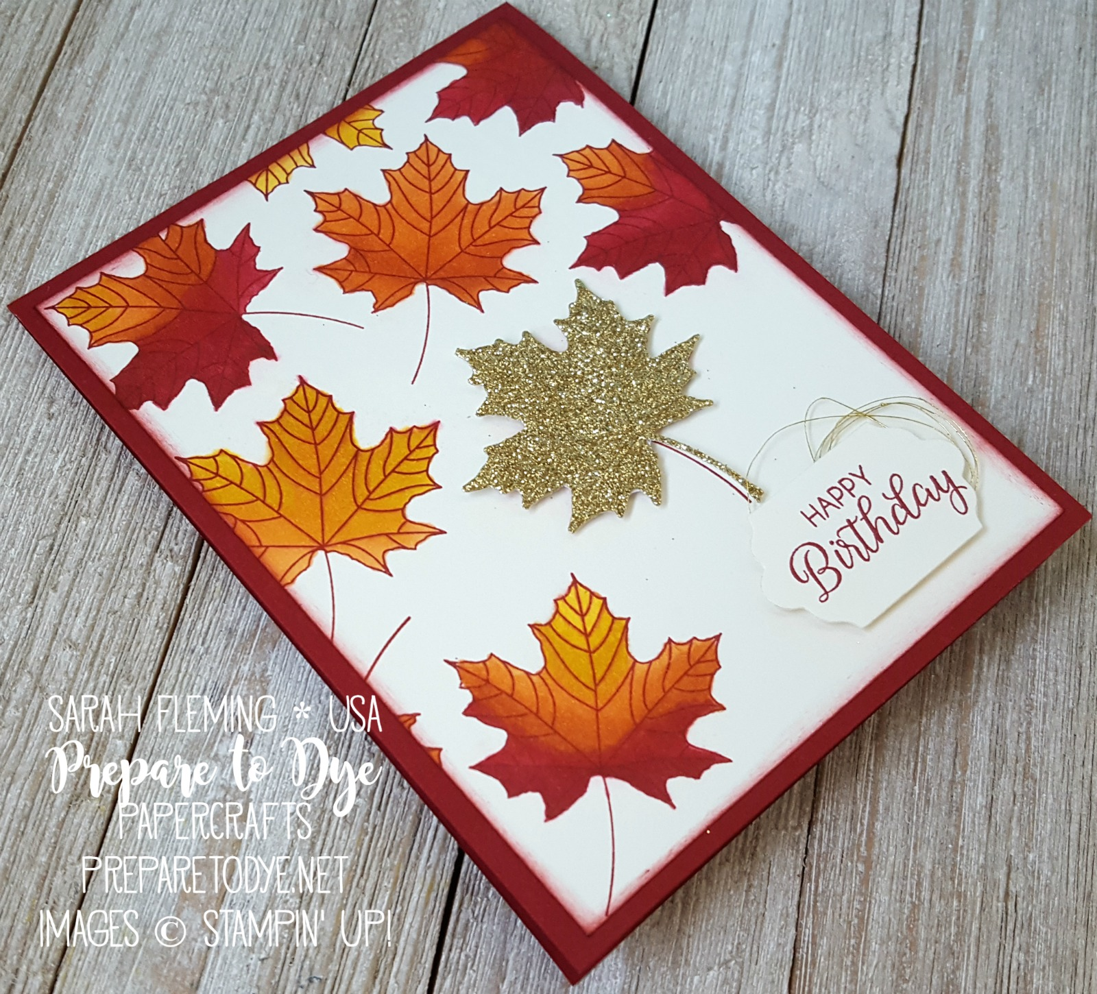 Stampin' Up! Colorful Seasons bundle with Seasonal Layers framelits and Stampin' Blends alcohol markers , Beautiful Bouquet - autumn fall handmade birthday card - Sarah Fleming - Prepare to Dye Papercrafts