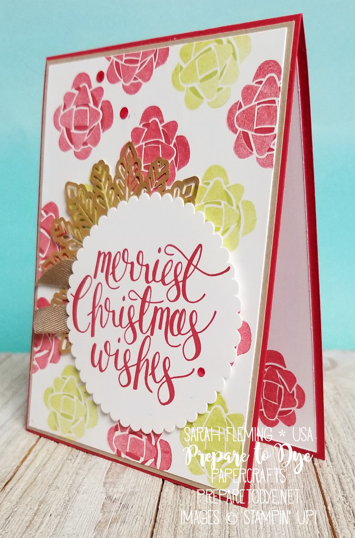Stampin' Up! Picture Perfect Birthday (coming Occasions 2018), Watercolor Christmas, Foil Snowflakes - handmade Christmas card - Sarah Fleming - Prepare to Dye Papercrafts