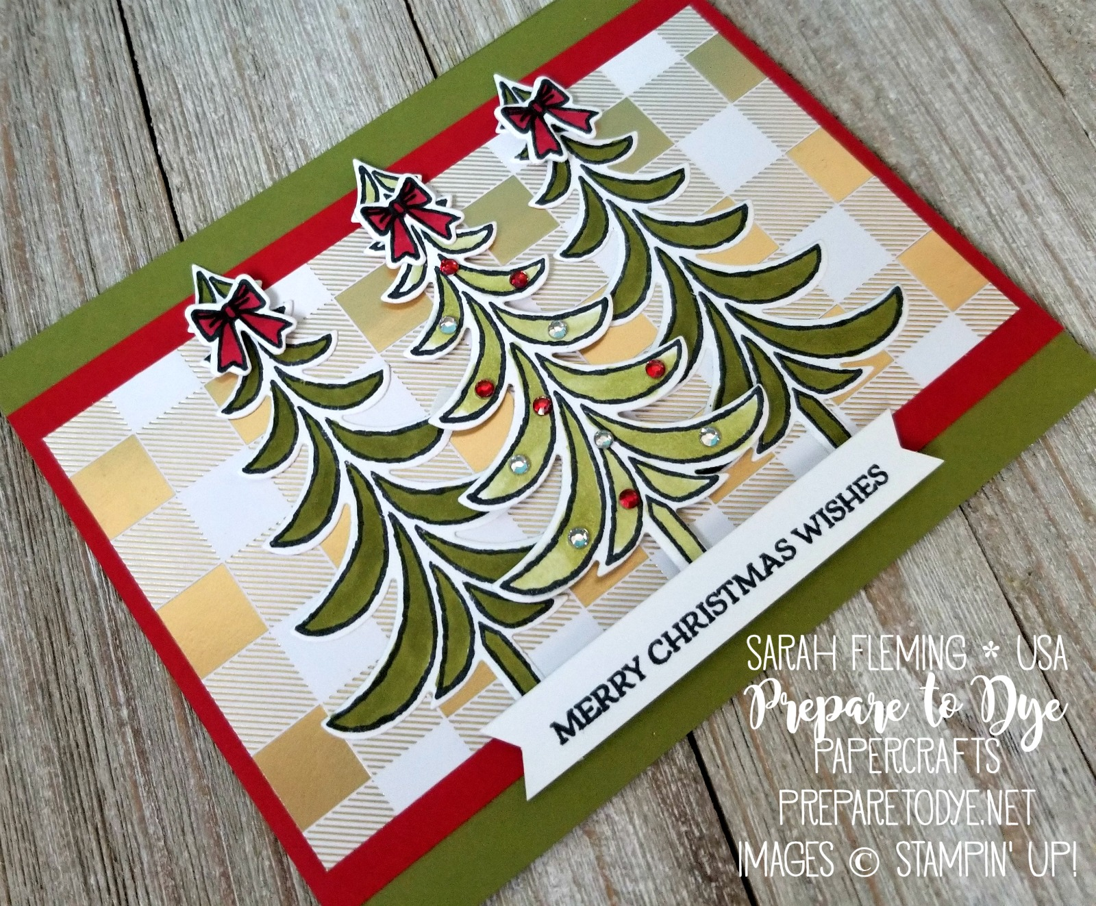 Stampin' Blends Marker Club November projects - Santa's Sleigh stamps, Santa's Sleigh thinlits, Year of Cheer paper - Sarah Fleming - Prepare to Dye Papercrafts