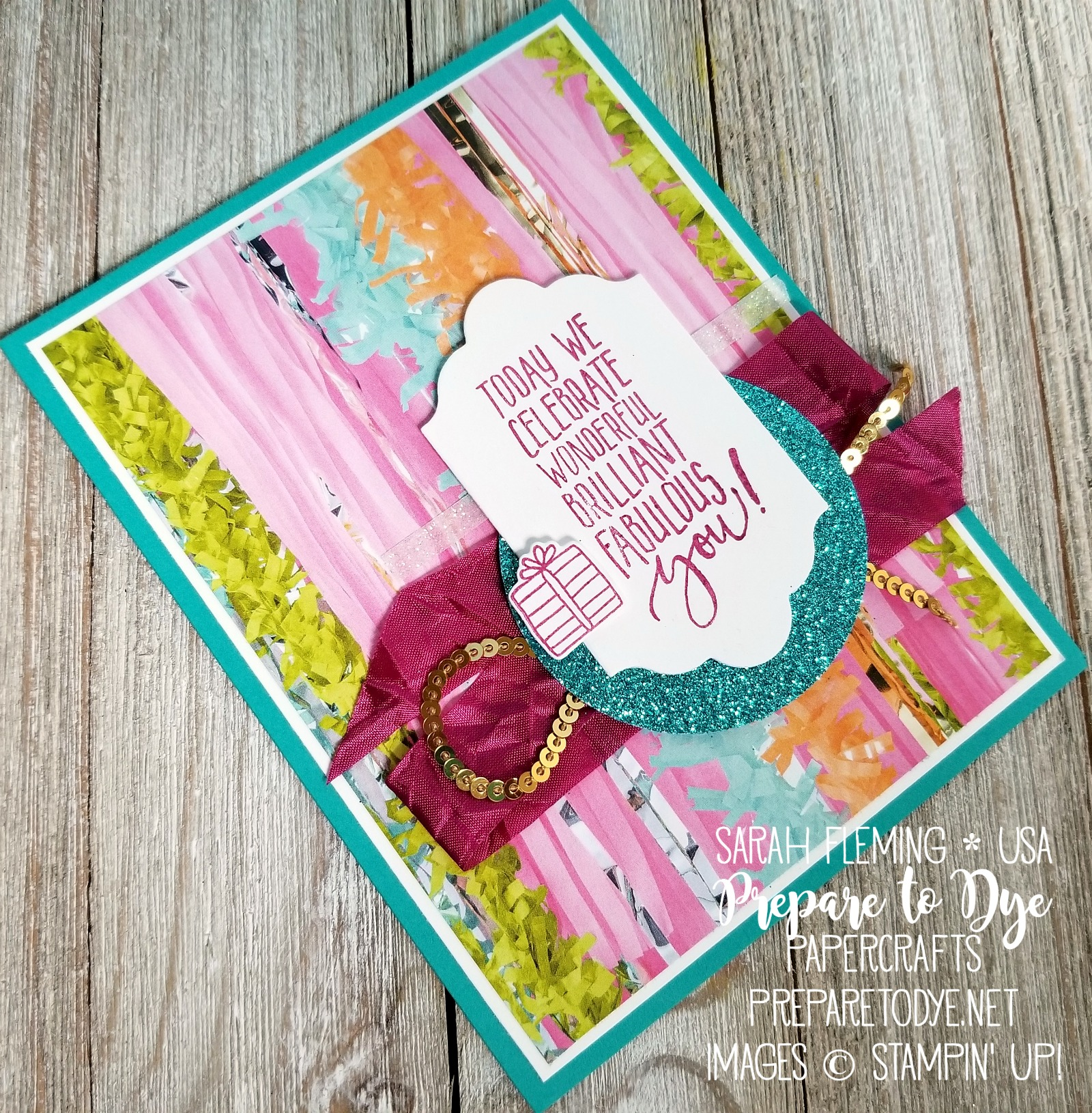 Stampin' Up! Picture Perfect Party suite with Picture Perfect Party paper, Picture Perfect Birthday stamps, Myths & Magic Glimmer Paper, Myths & Magic Washi Tape