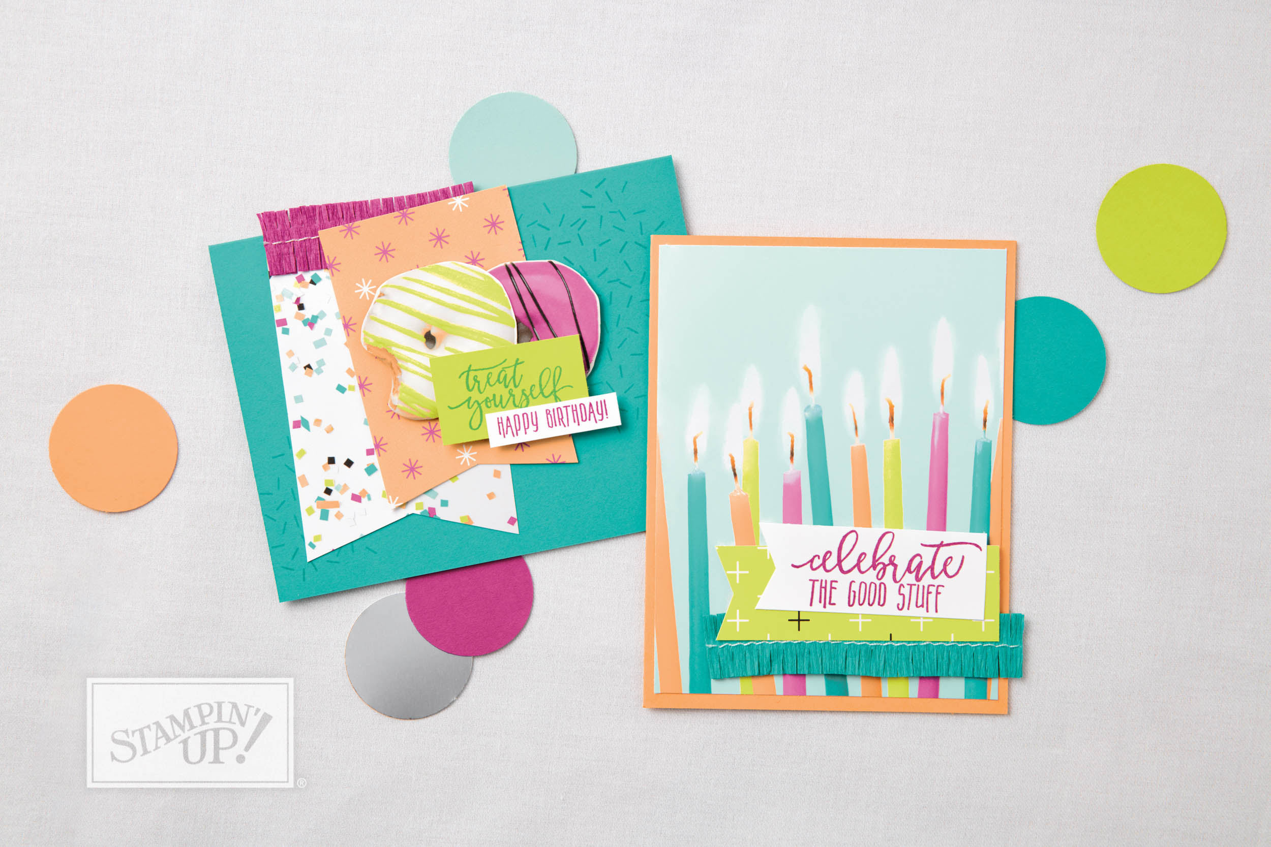 Stampin' Up! Picture Perfect Birthday stamps with Picture Perfect Party paper - Occasions and Sale-A-Bration 2018 are live NOW! - Sarah Fleming - Prepare to Dye Papercrafts