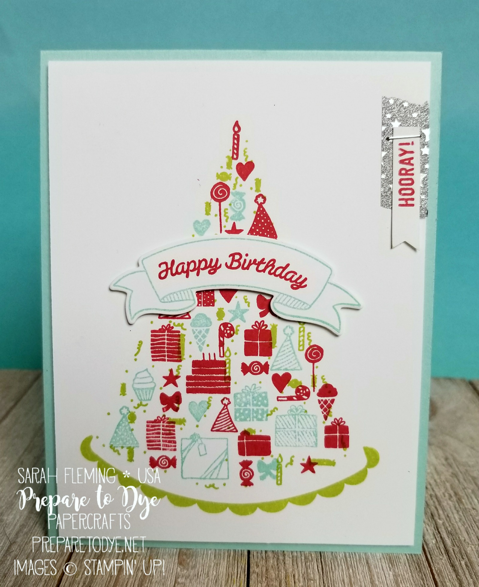 Stampin' Up! Party Hat Birthday - Occasions 2018 - Sarah Fleming - Prepare to Dye Papercrafts