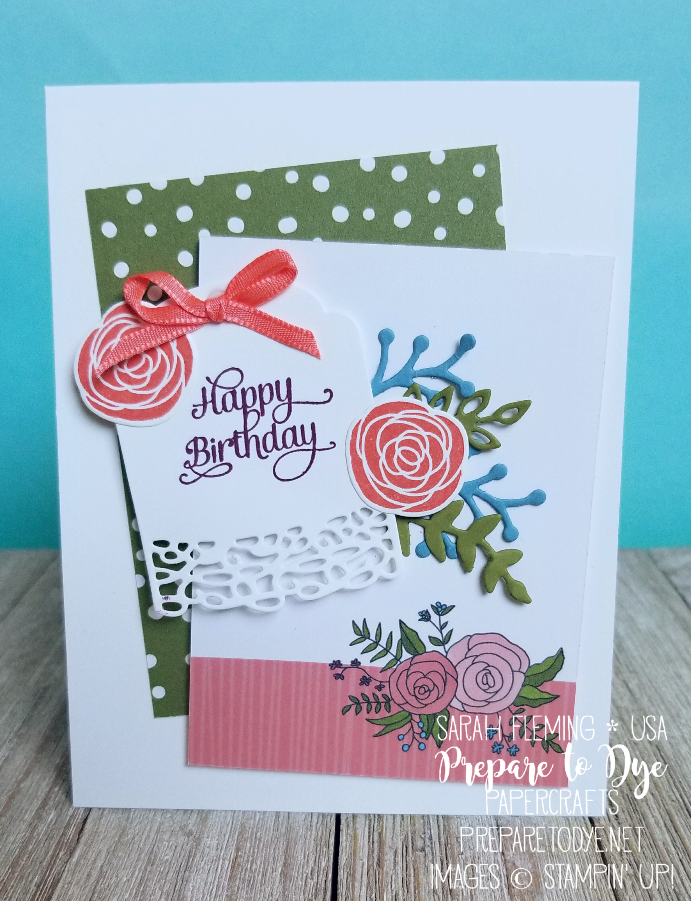 Cake Soiree with Sweet Cake framelits, Sweet Soiree Memories & More card pack - handmade birthday card - Sarah Fleming - Prepare to Dye Papercrafts