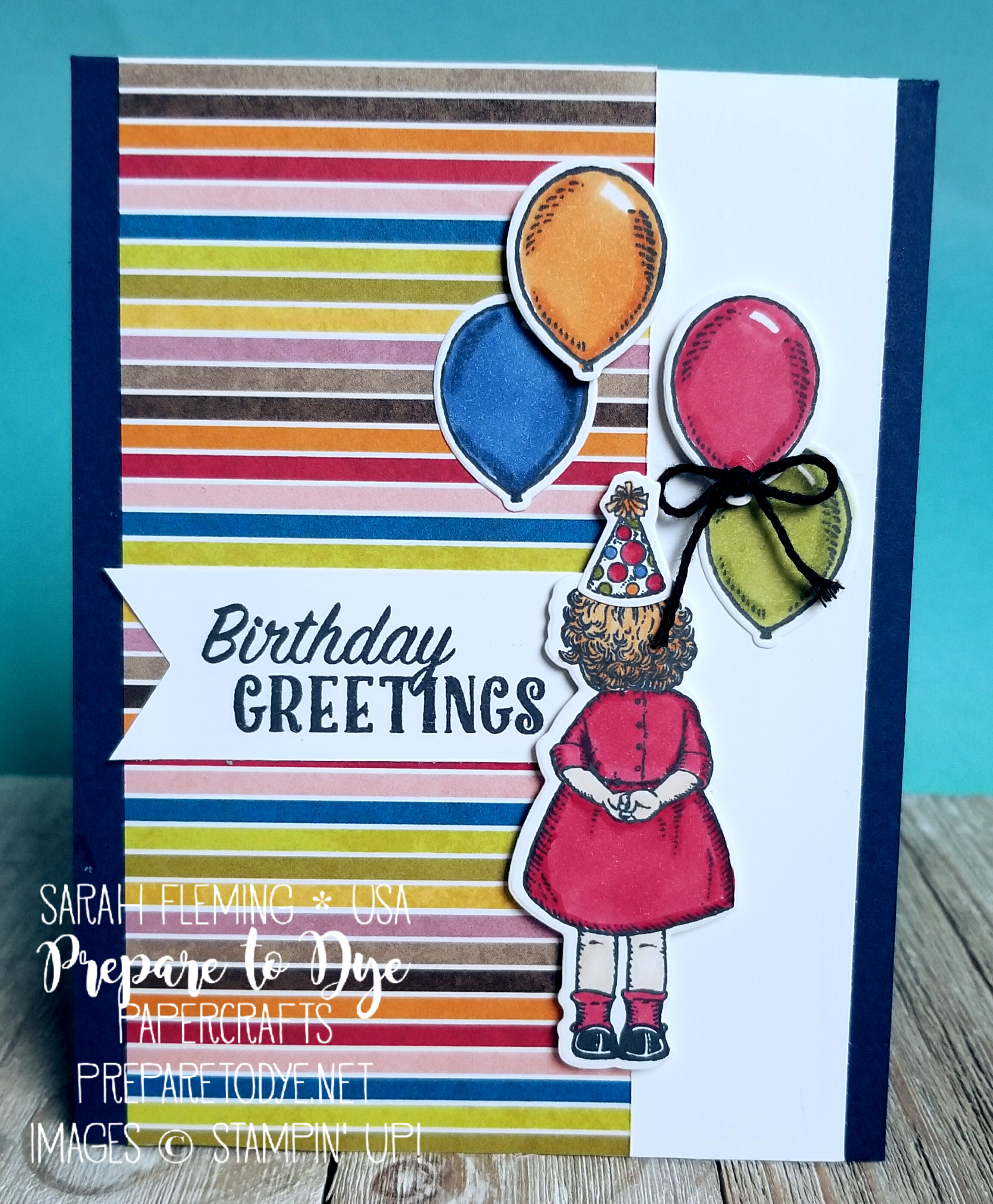 Stampin' Up! Stampin' Blends Marker Club with Birthday Delivery stamps - Sarah Fleming - Prepare to Dye Papercrafts