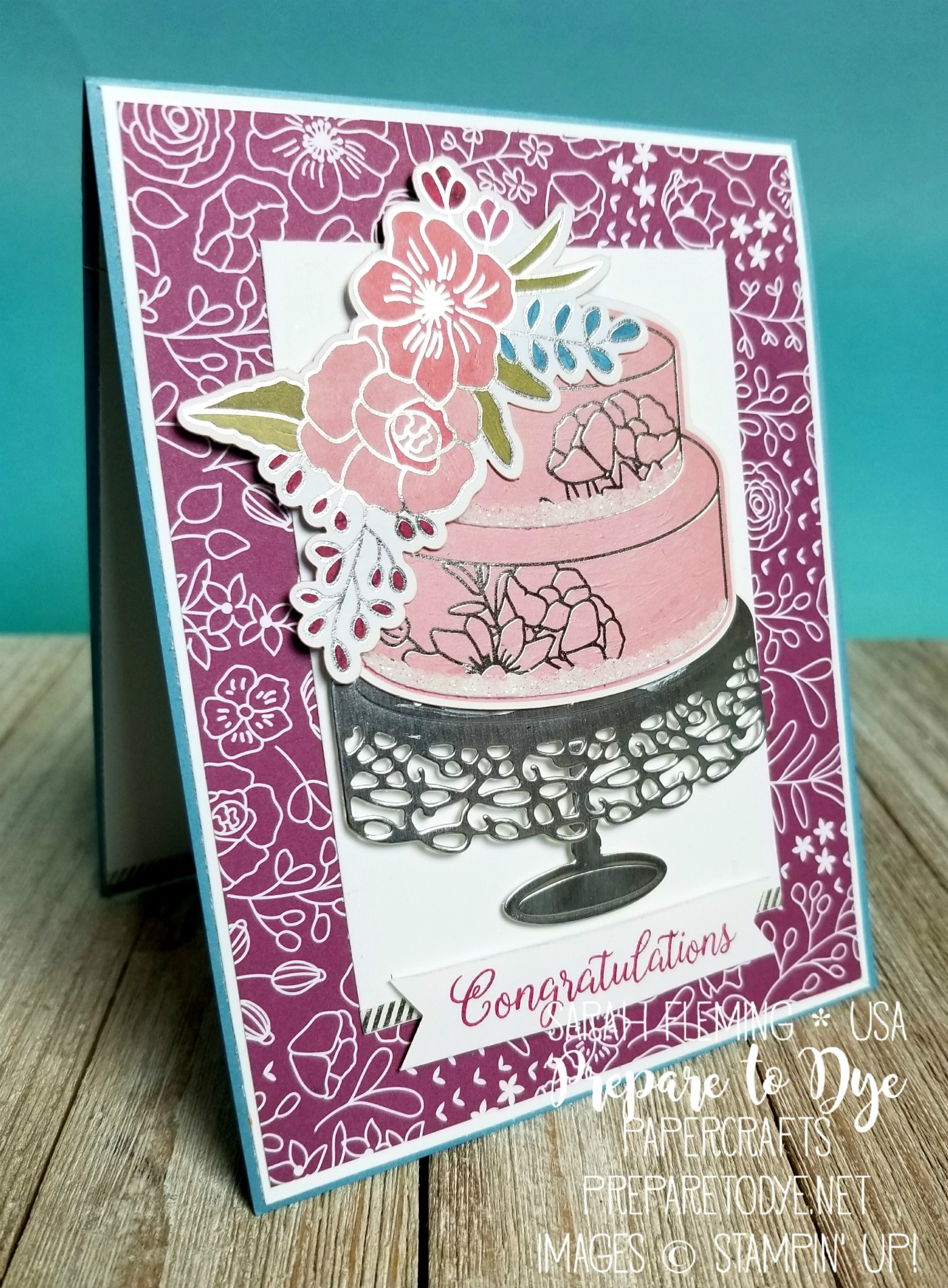 Stampin' Up! Sweet Soiree Suite is just so lovely - Cake Soiree with Sweet Cake framelits, Sweet Soiree Memories & More, 2018 Occasions and Sale-A-Bration - Sarah Fleming - Prepare to Dye Papercrafts