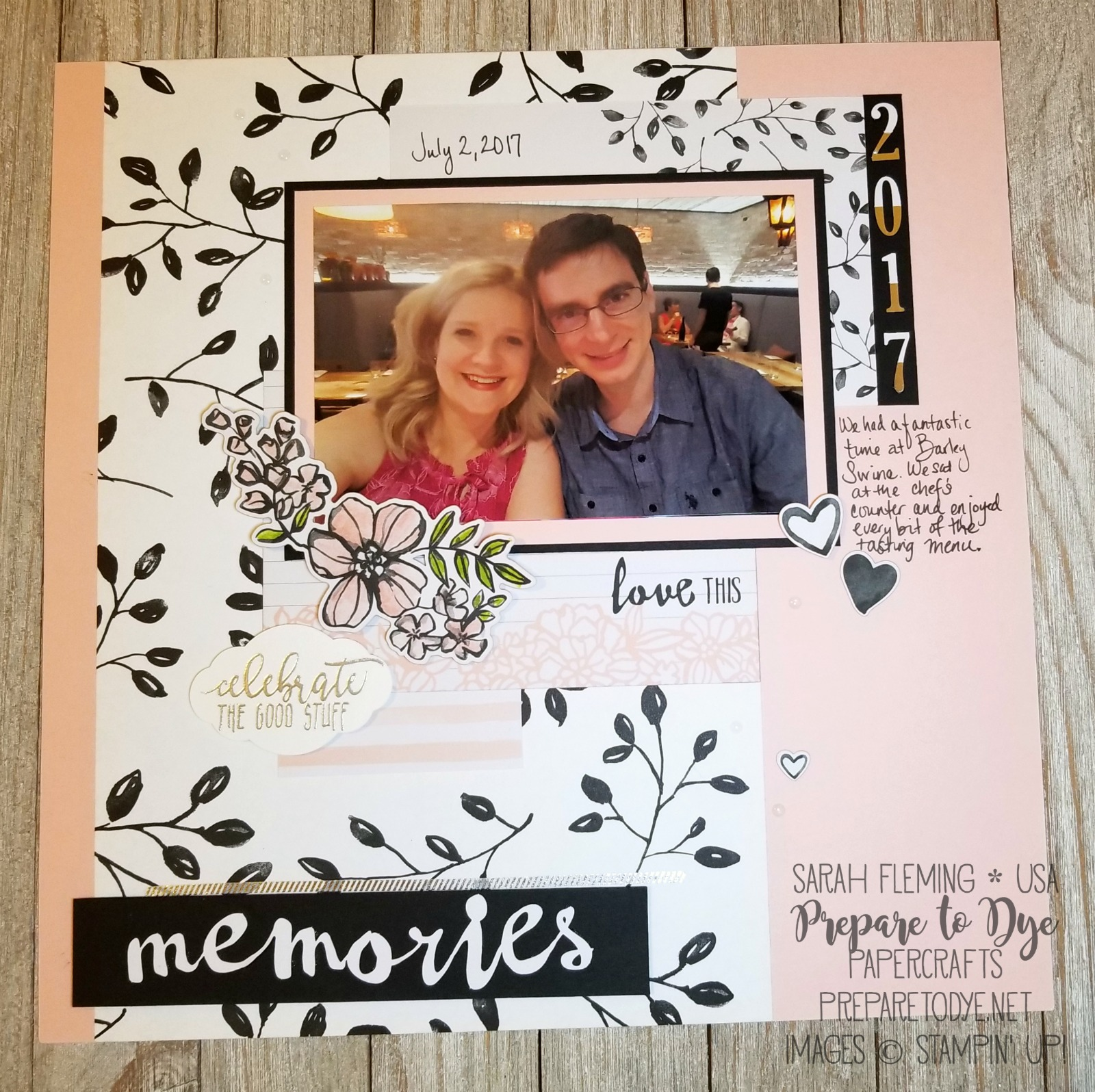 Stampin' Up! Petal Passion paper, Petal Passion Memories & More Card Pack, Sweet Soiree Embellishment Kit, Picture Perfect Birthday - Sarah Fleming - Prepare to Dye Papercrafts