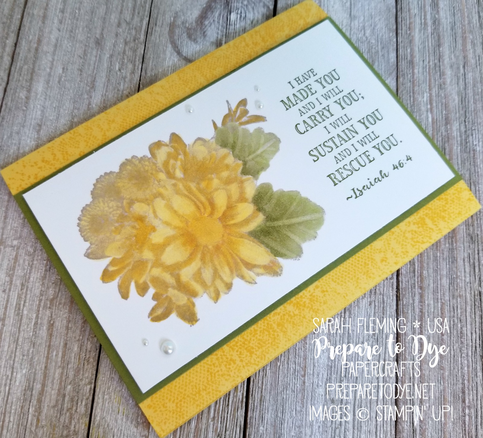 Stampin' Up! Heartfelt Blooms and Hold on to Hope with Touches of Texture - Sarah Fleming - Prepare to Dye Papercrafts