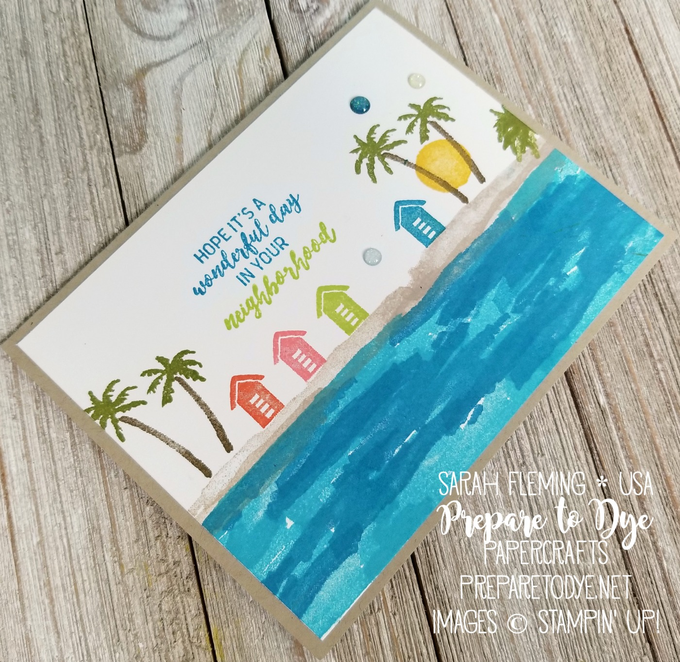 Stampin' Up! Waterfront with In the City host stamp set - Sarah Fleming - Prepare to Dye Papercrafts