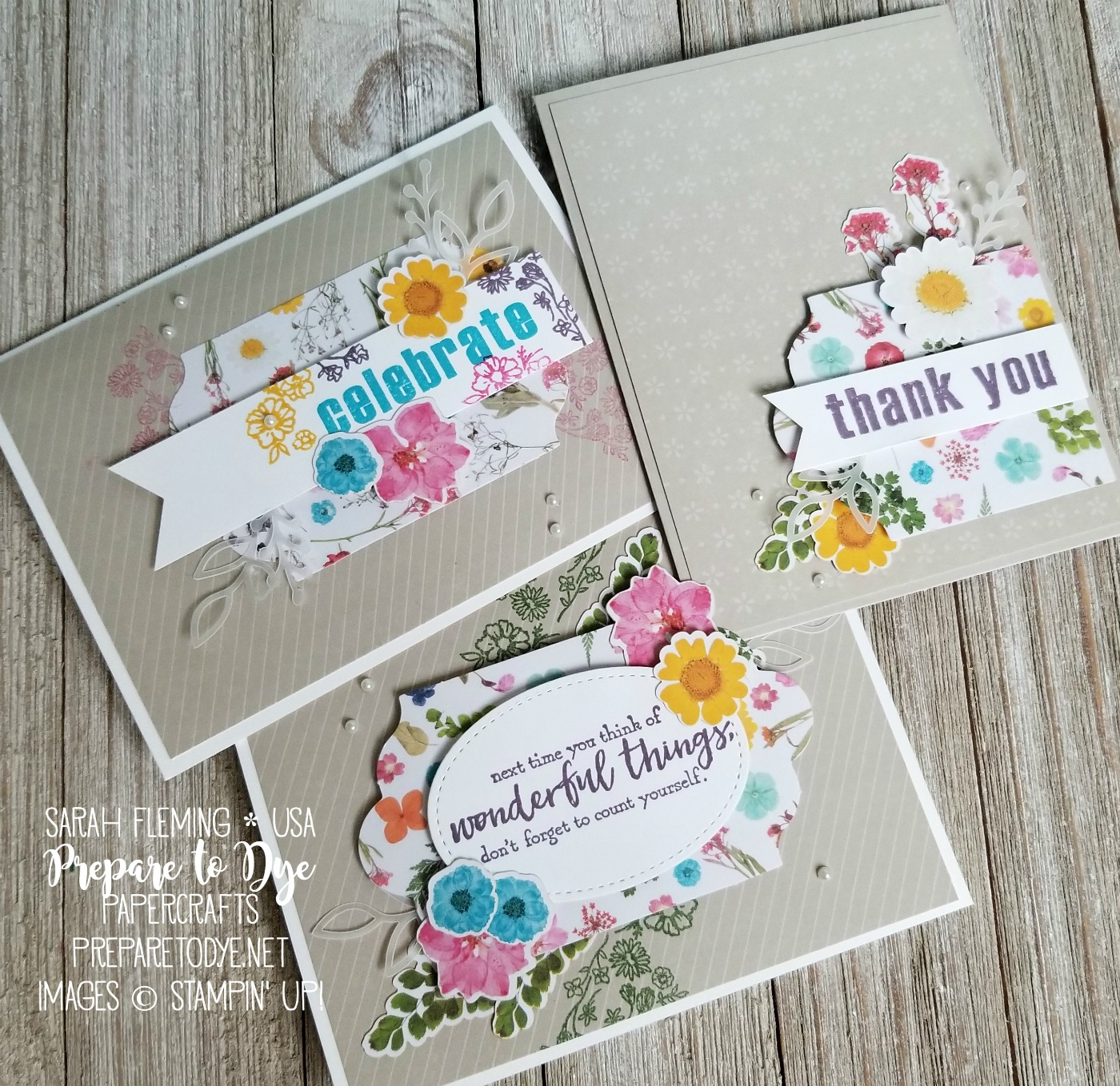 Stampin' Up! Paper Pumpkin monthly subscription box February 2018 kit with Just Add Text - see blog post for alternate ideas for this kit - Sarah Fleming - Prepare to Dye Papercrafts