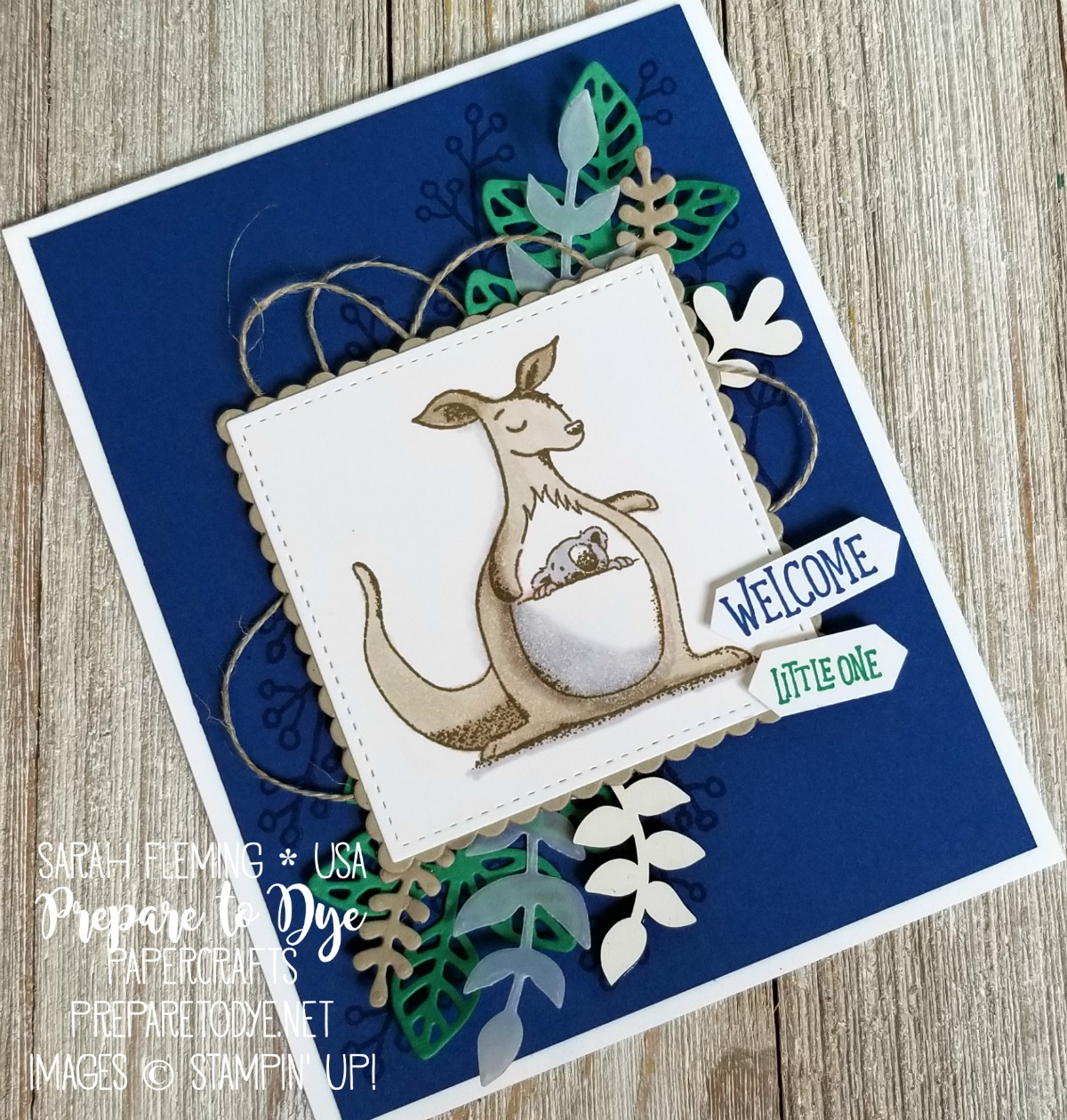 Stampin' Up! Animal Outing (coming soon), Love What You Do, Flourish Thinlits, Bouquet Bunch framelits, Stampin' Blends alcohol markers - Kylie's International Blog Highlights Top 10 Winners Blog Hop - Sarah Fleming - Prepare to Dye Papercrafts