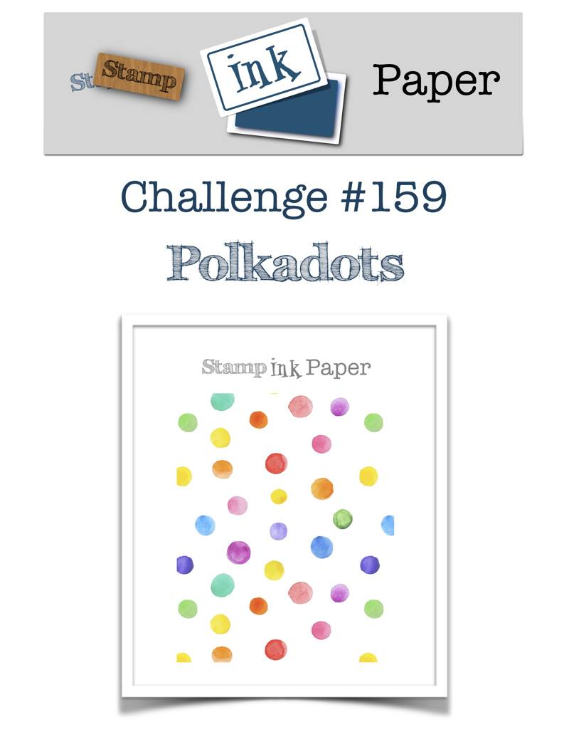 Stamp Ink Paper #159 Polka Dots