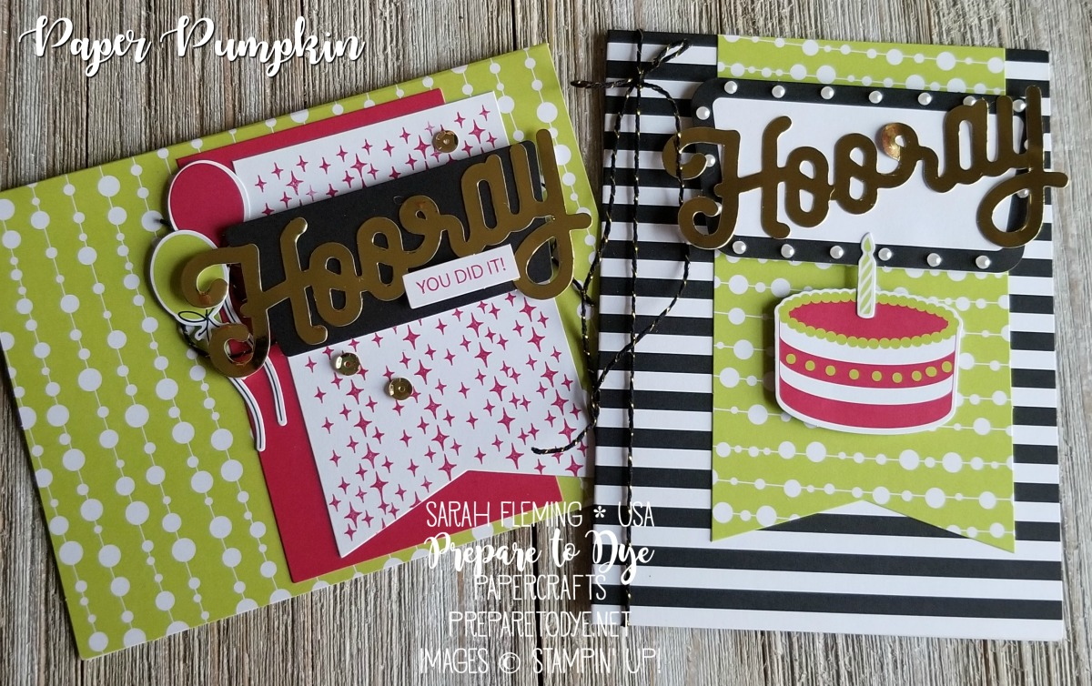 Stampin' Up! Paper Pumpkin monthly subscription box papercrafting kits - June 2018 Paper Pumpkin - Sarah Fleming - Prepare to Dye Papercrafts