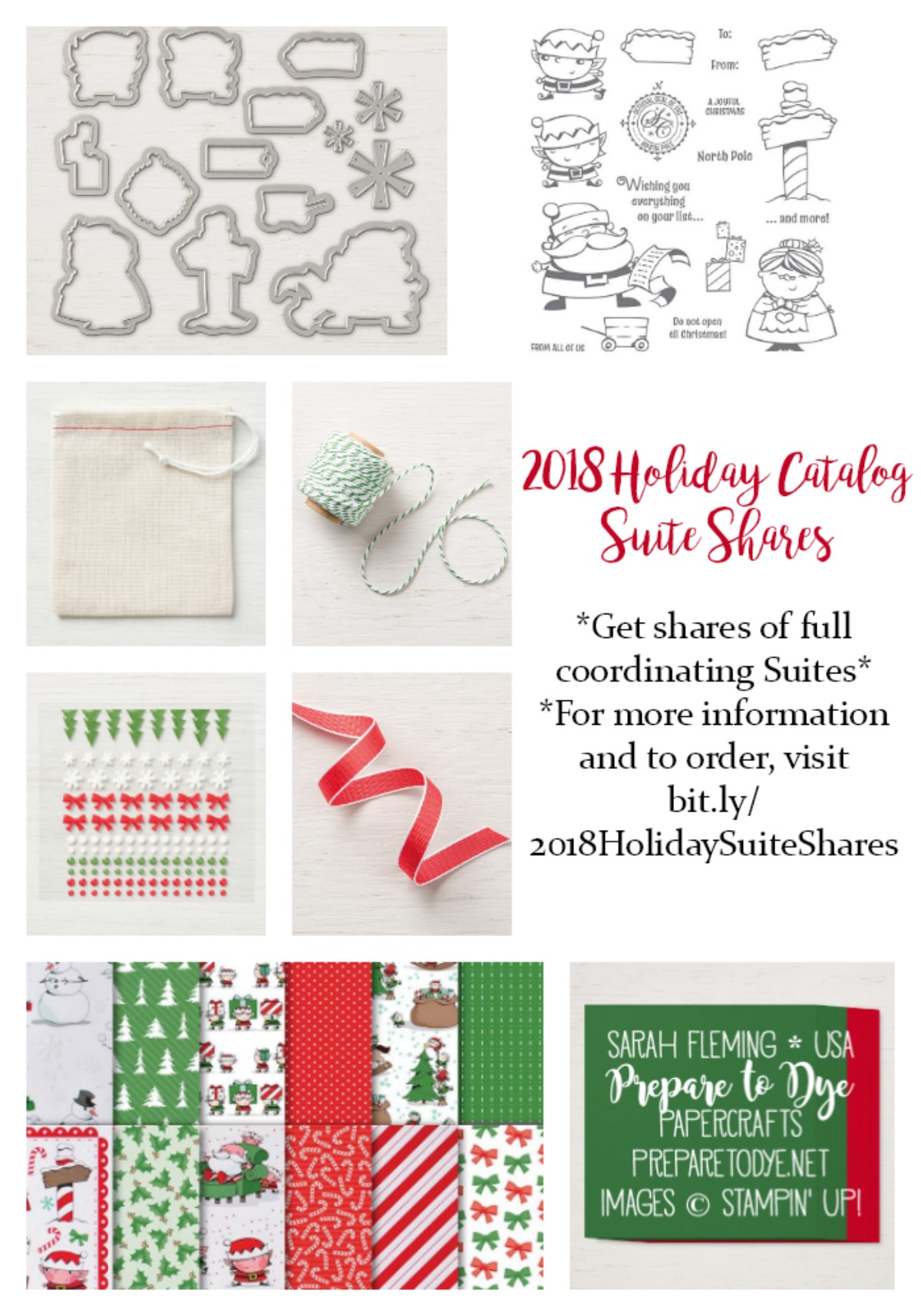 2018 Stampin' Up! Holiday Catalog Suite Shares - get shares of full suites of coordinating products - with option for consumables only or adding on full bundles - Sarah Fleming - Prepare to Dye Papercrafts