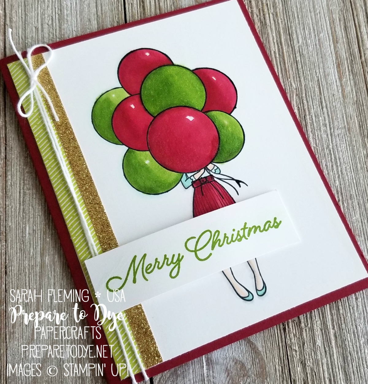 Stampin' Up! Hand Delivered hostess stamp set with Blended Seasons stamps, Animal Expedition paper, Stampin' Blends alcohol markers - Sarah Fleming - Prepare to Dye Papercrafts