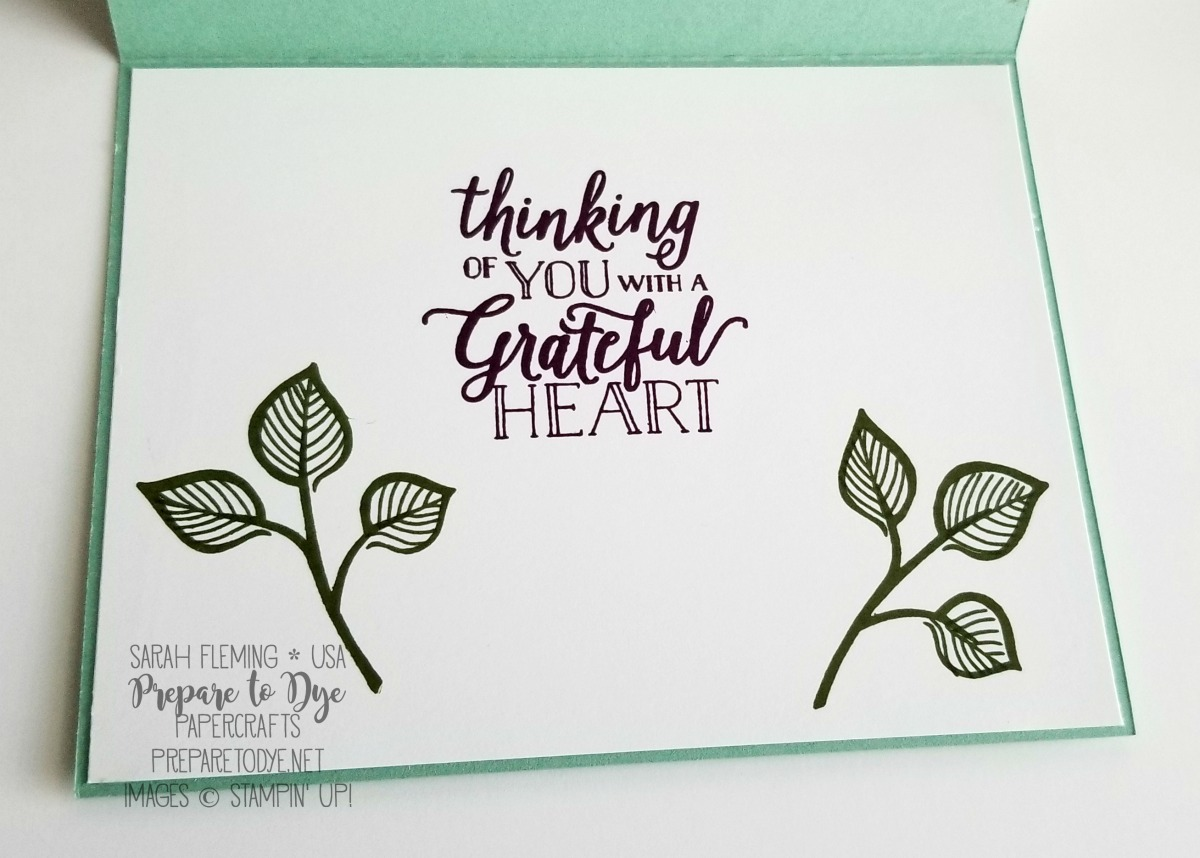 Stampin' Up! Falling For Leaves bundle with Detailed Leaves thinlits, Country Lane paper, Festive Farmhouse framelits - Sarah Fleming - Prepare to Dye Papercrafts