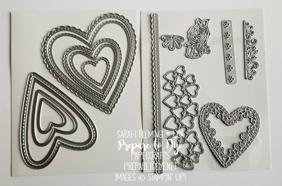 Stampin' Up! Be Mine Stitched framelits - 2019 Occasions Catalog sneak peek - Sarah Fleming - Prepare to Dye Papercrafts
