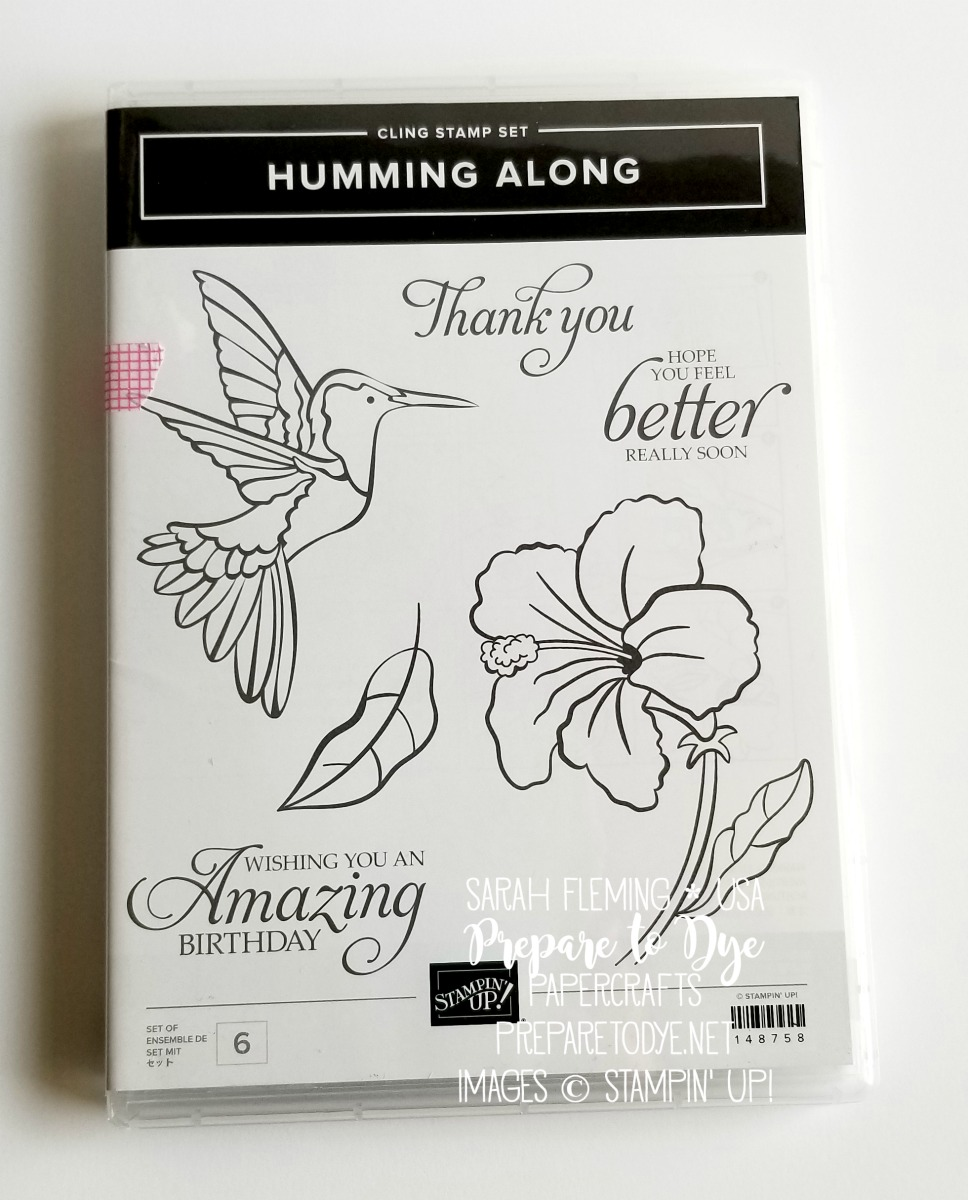 Stampin' Up! Humming Along cling stamp set - 2019 Occasions Catalog sneak peek - Sarah Fleming - Prepare to Dye Papercrafts