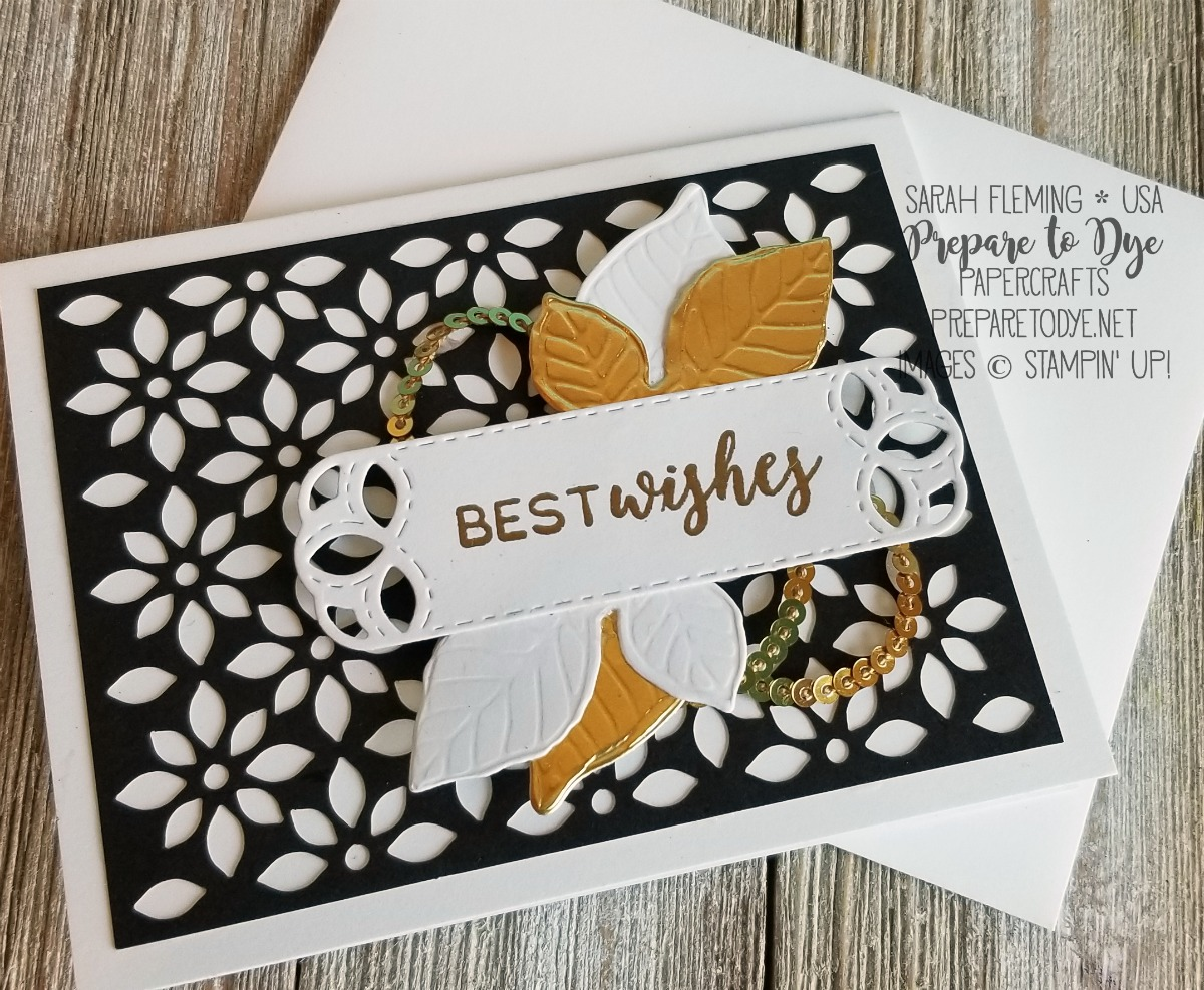 Stampin' Up! Delightfully Detailed Memories & More cards, Stitched All Around bundle, Stitched Labels dies, Nature's Roots dies - Sarah Fleming - Prepare to Dye Papercrafts