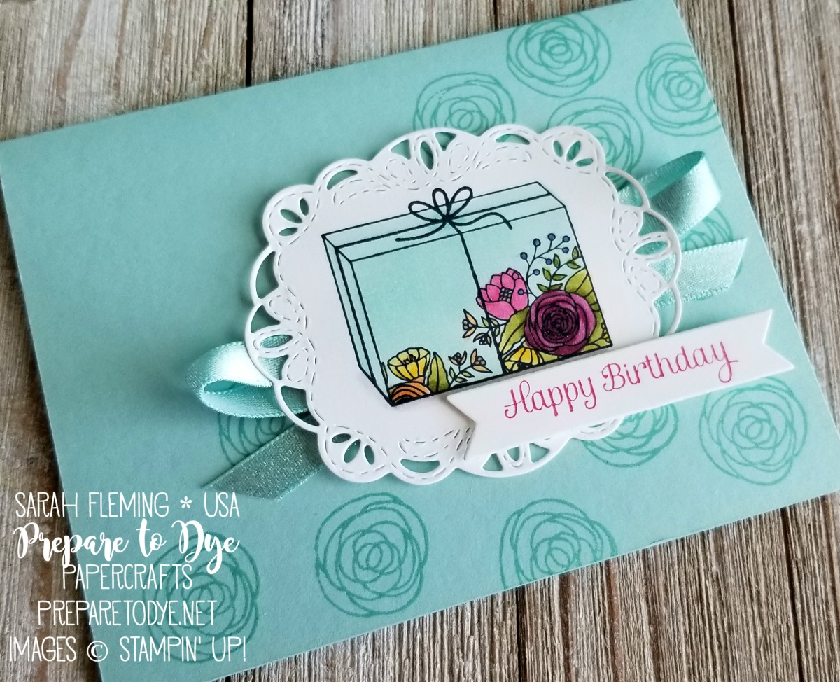 Stampin' Up! Cake Soiree stamps with Stitched Labels dies - handmade birthday card - Sarah Fleming - Prepare to Dye Papercrafts